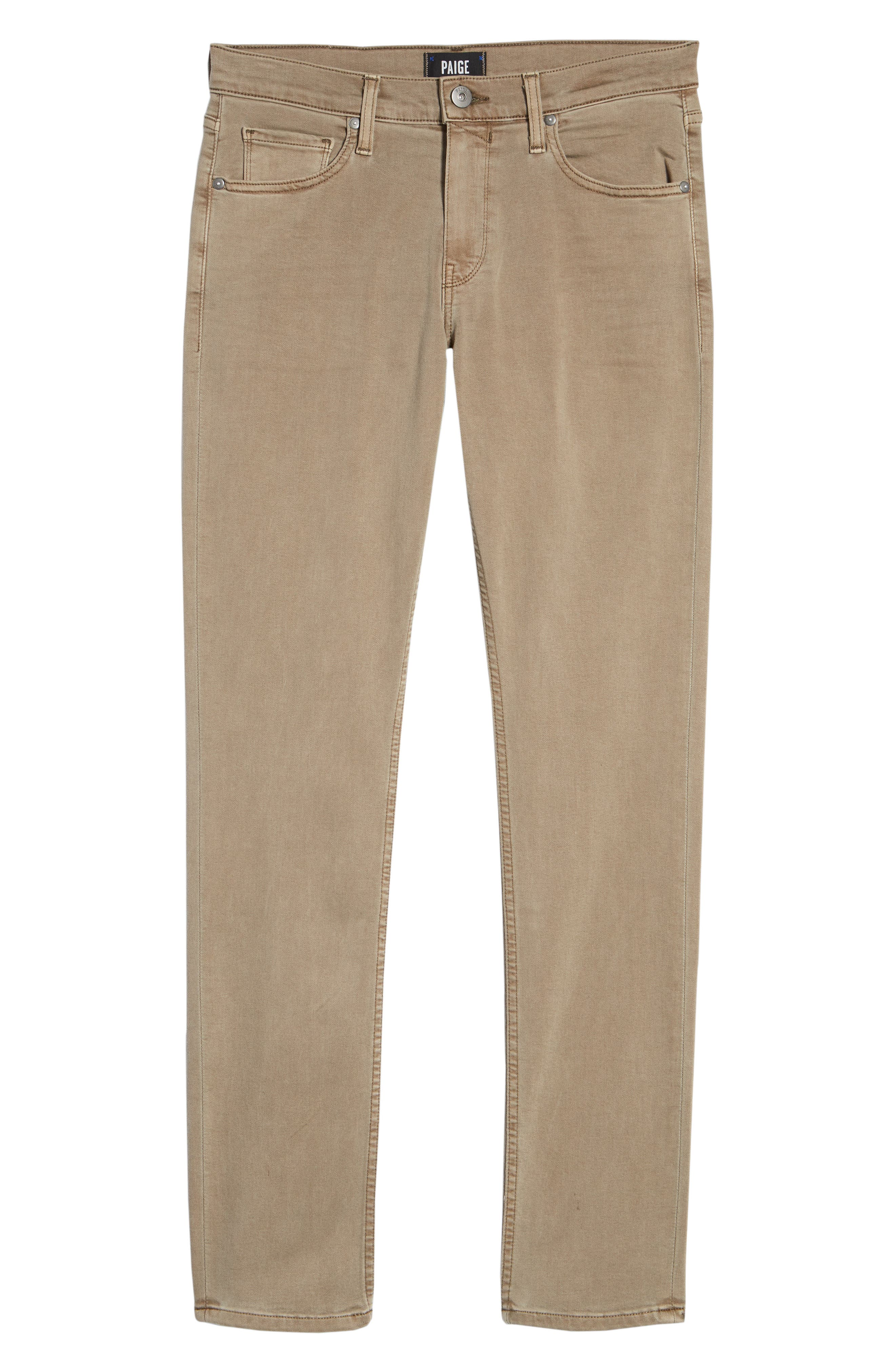 Transcend - Lennox Slim Fit Twill Pants,                             Alternate thumbnail 6, color,                             VINTAGE MUSHROOM
