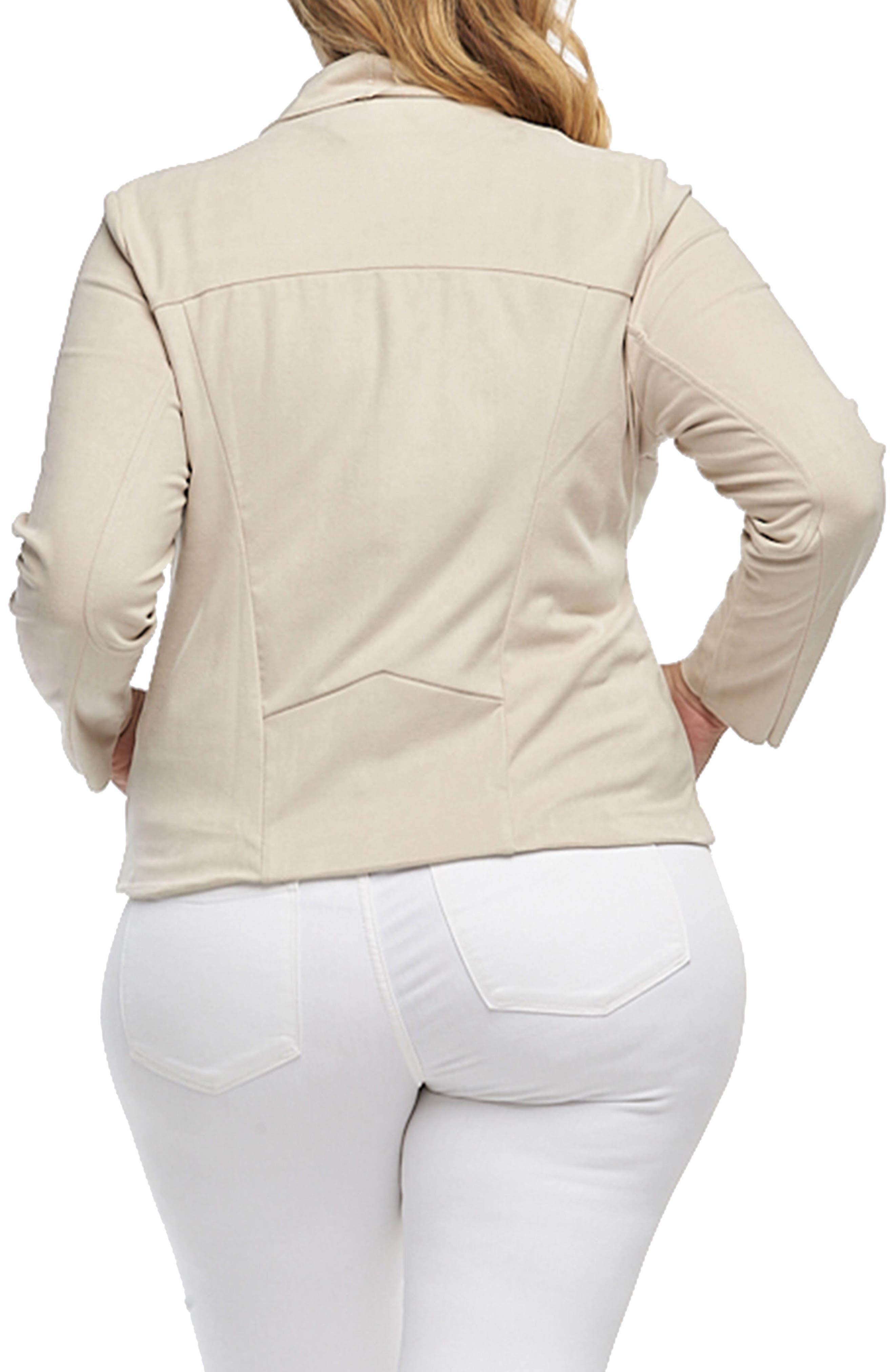 Sayna Drape Front Asymmetrical Jacket,                             Alternate thumbnail 2, color,                             900