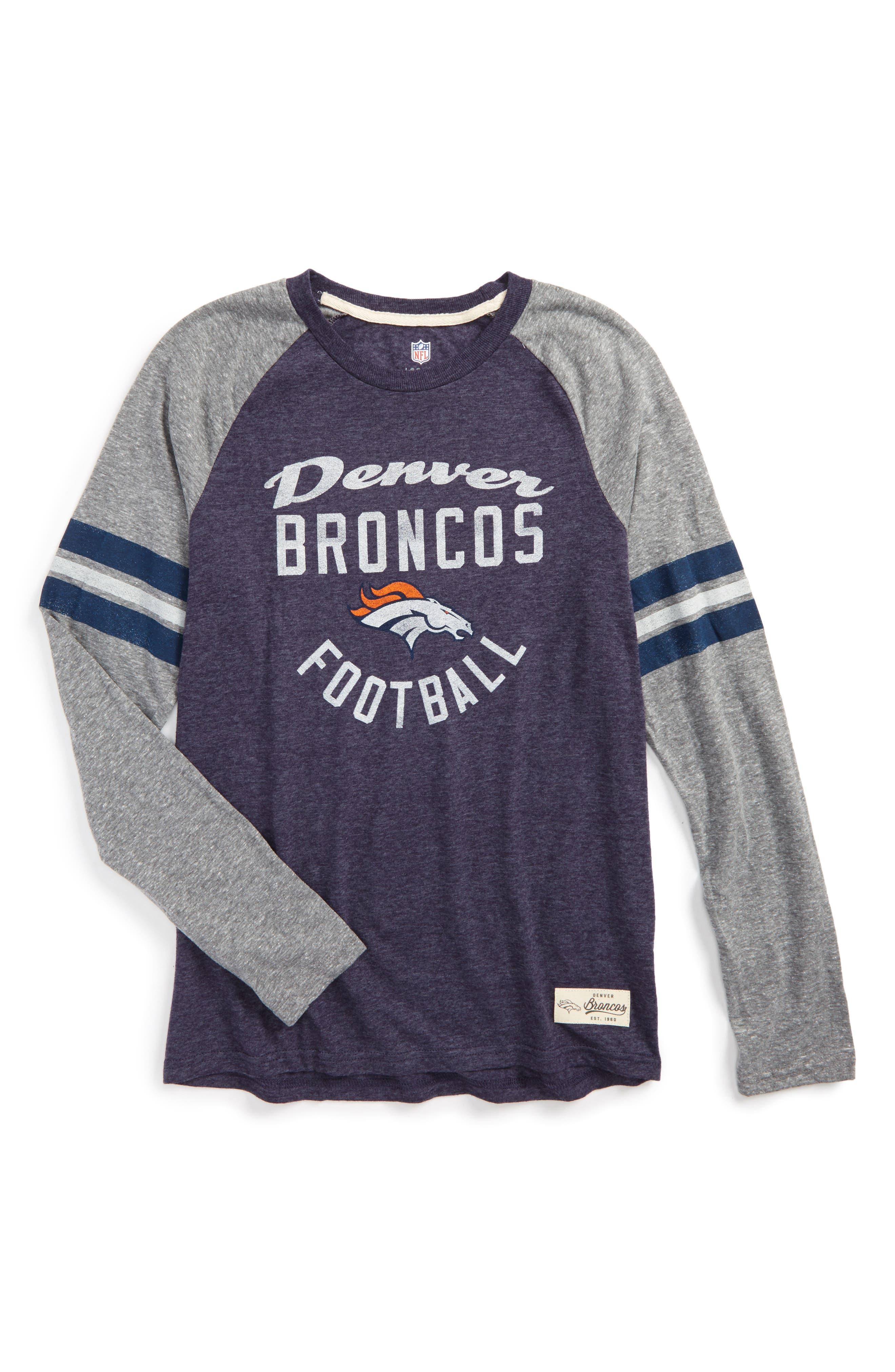 NFL Denver Broncos Distressed Logo T-Shirt,                         Main,                         color, 400