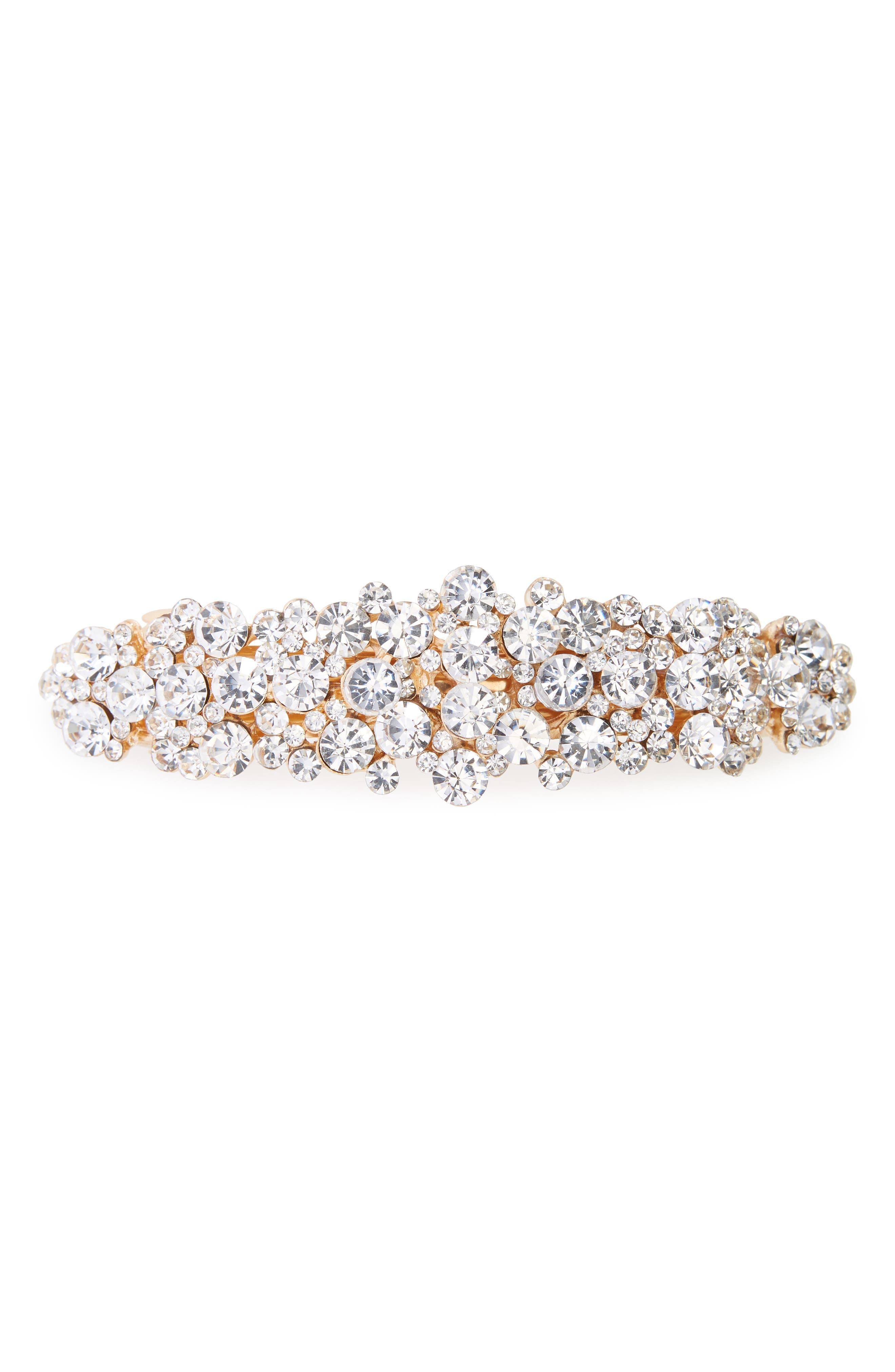 1920s Accessories | Great Gatsby Accessories Guide Tasha Crystal Barrette $16.80 AT vintagedancer.com