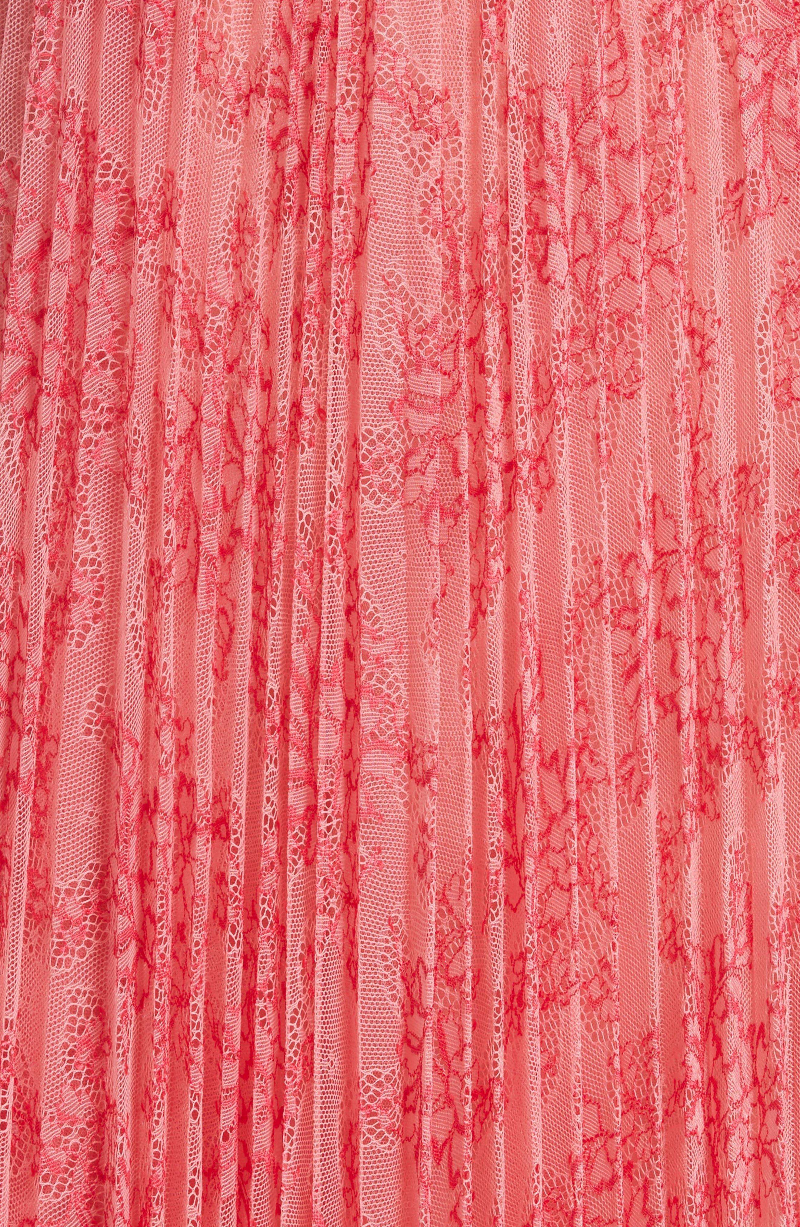 Clementine Floral Lace Midi Dress,                             Alternate thumbnail 6, color,                             956