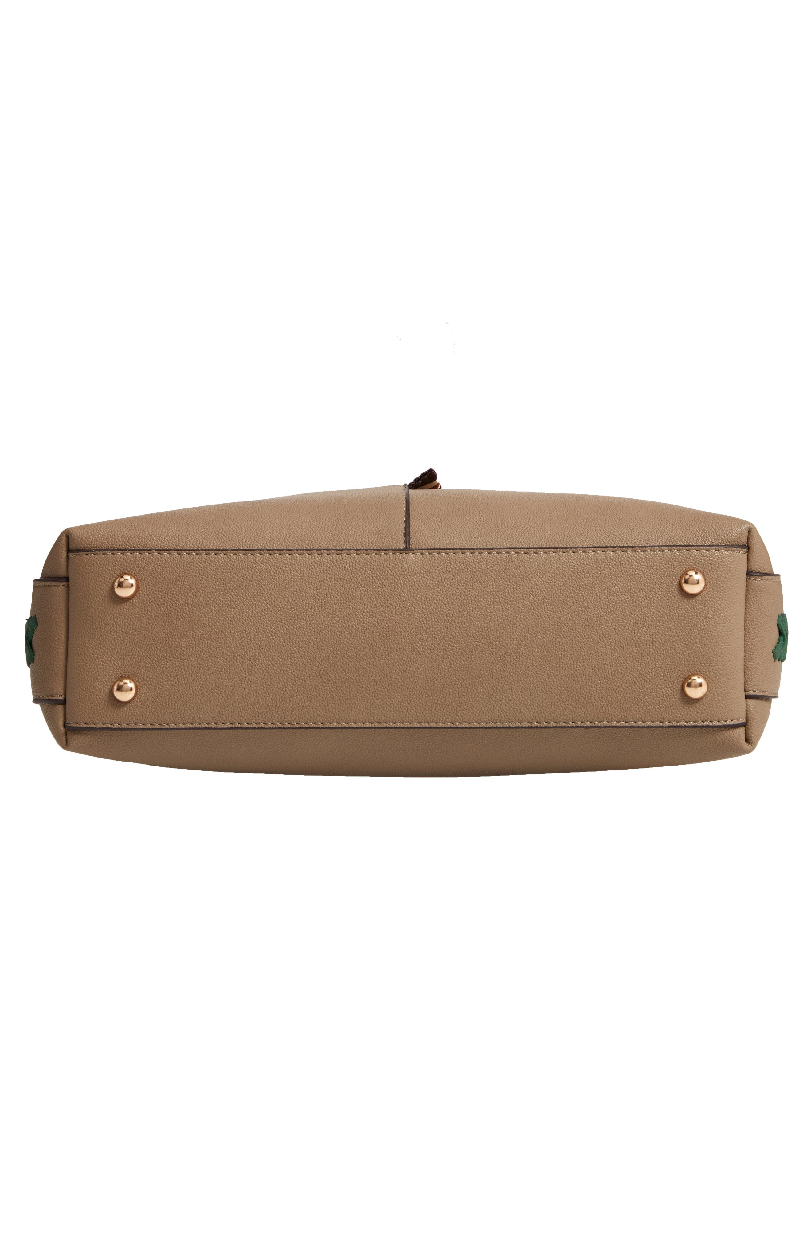 Faux Leather Hobo,                             Alternate thumbnail 6, color,                             TAUPE