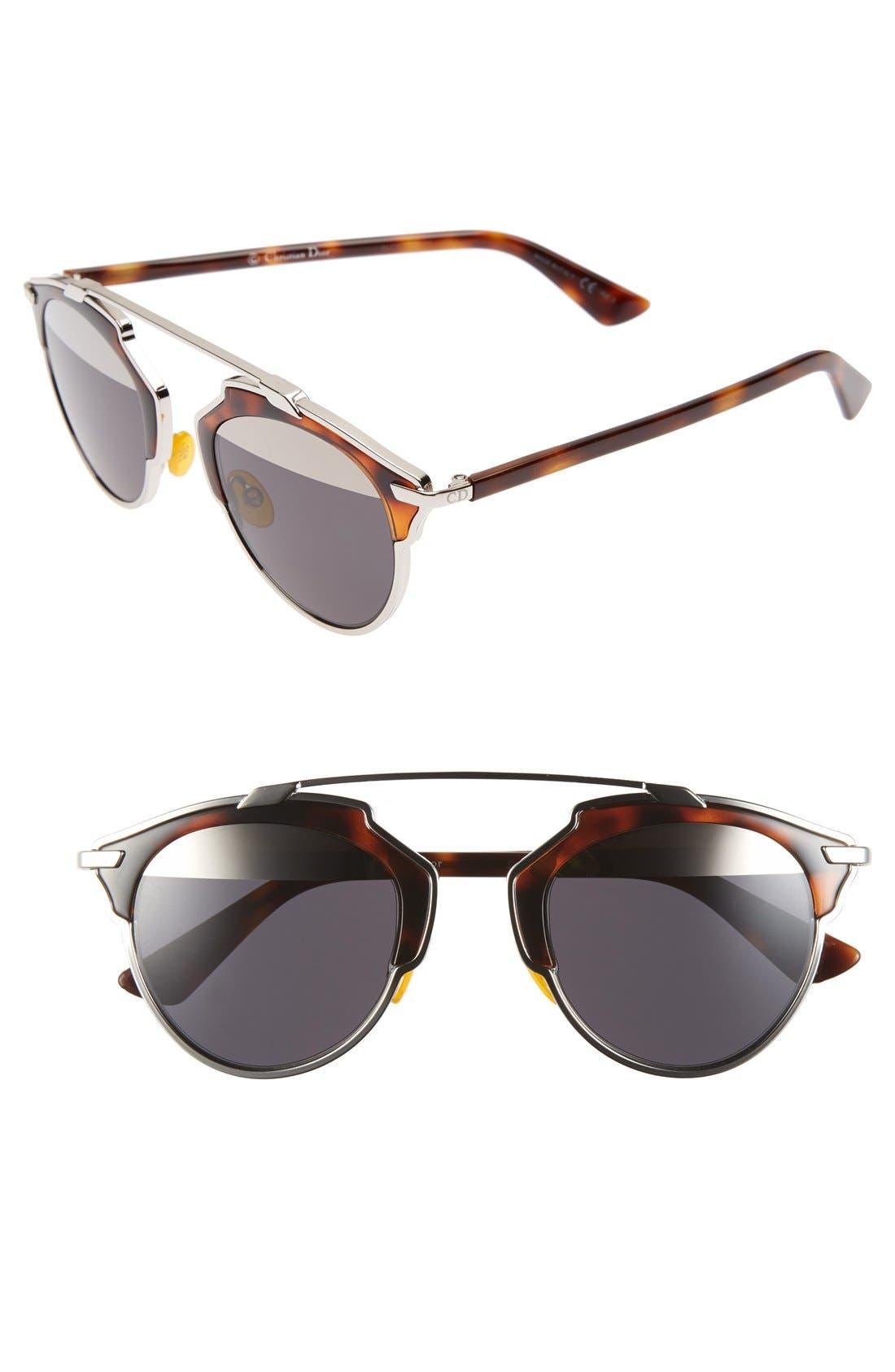 So Real 48mm Brow Bar Sunglasses,                             Main thumbnail 10, color,