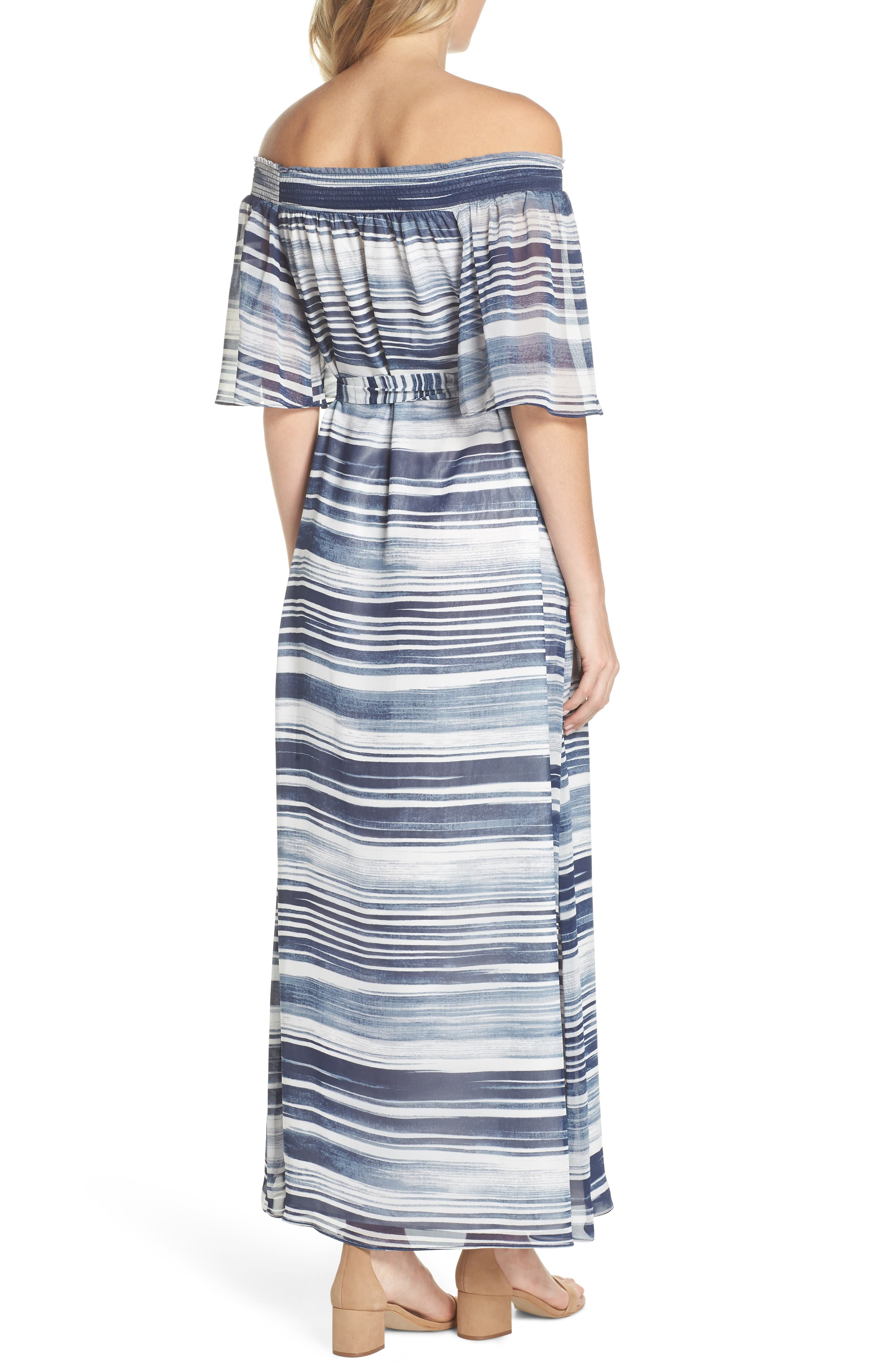 San Onofre Off the Shoulder Maxi Dress,                             Alternate thumbnail 2, color,                             INDIGO