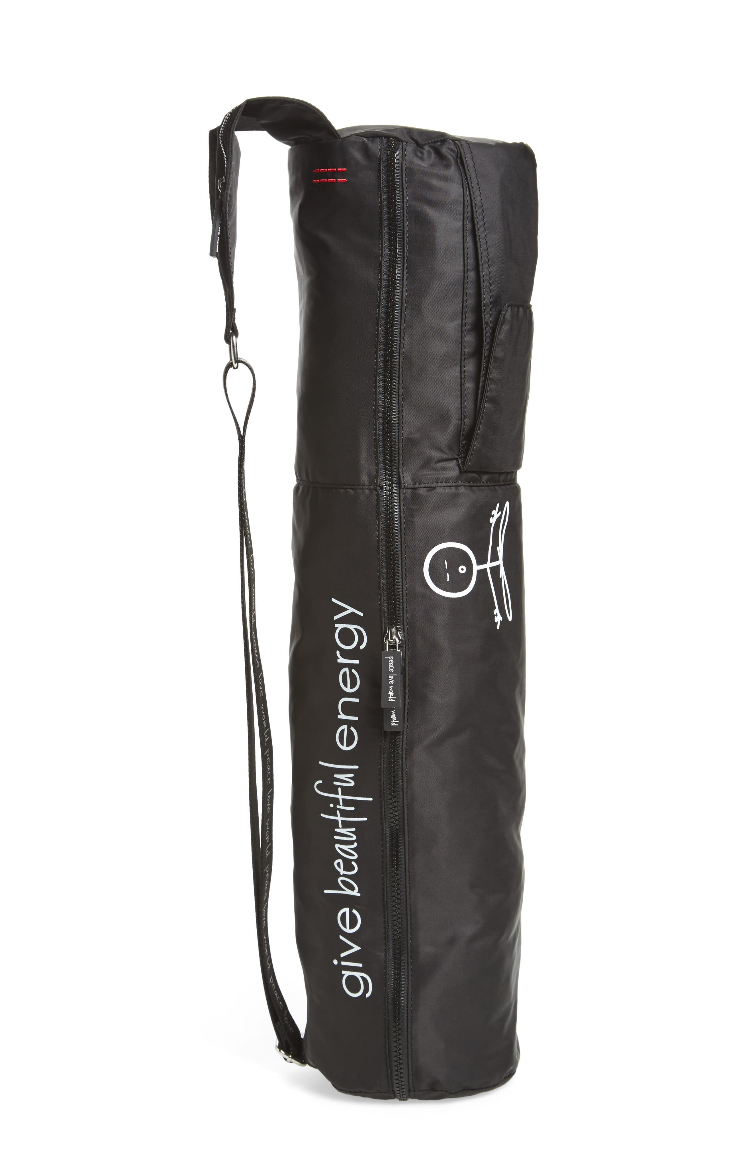Nylon Yoga Bag,                             Alternate thumbnail 5, color,                             001