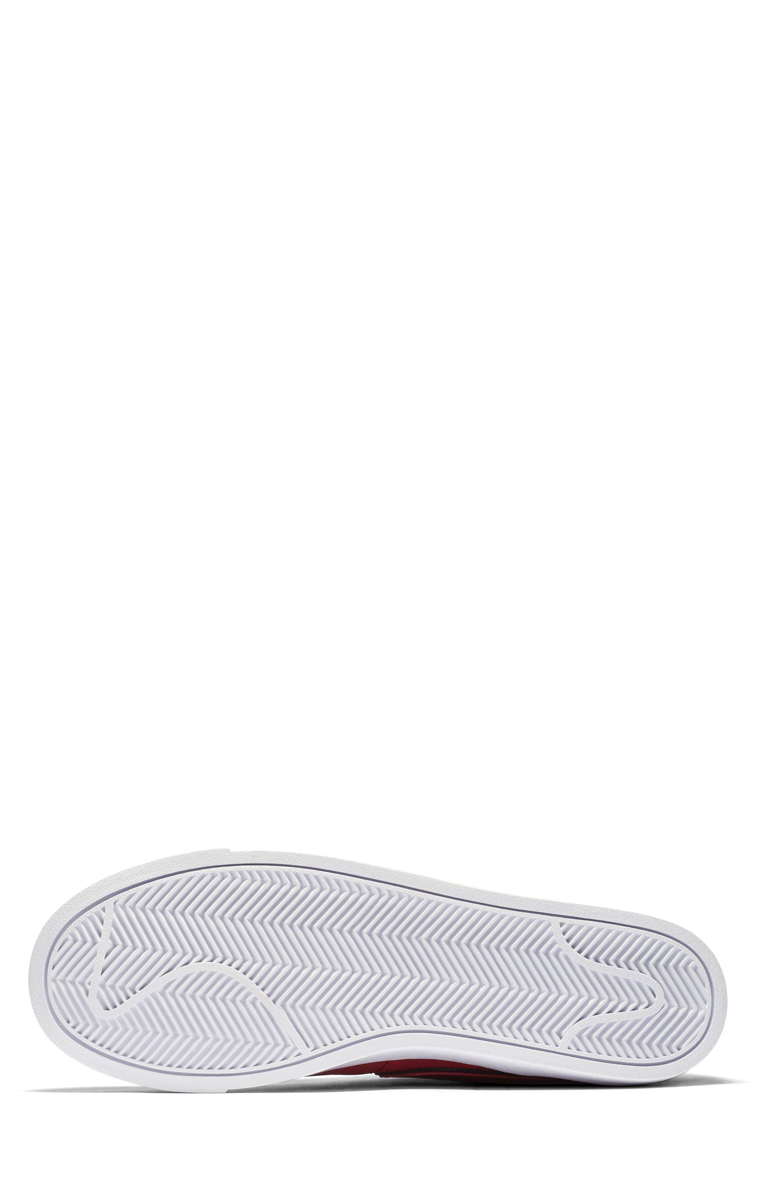 Blazer Mid Top Sneaker,                             Alternate thumbnail 5, color,                             RED CRUSH/ WHITE/ BLACK
