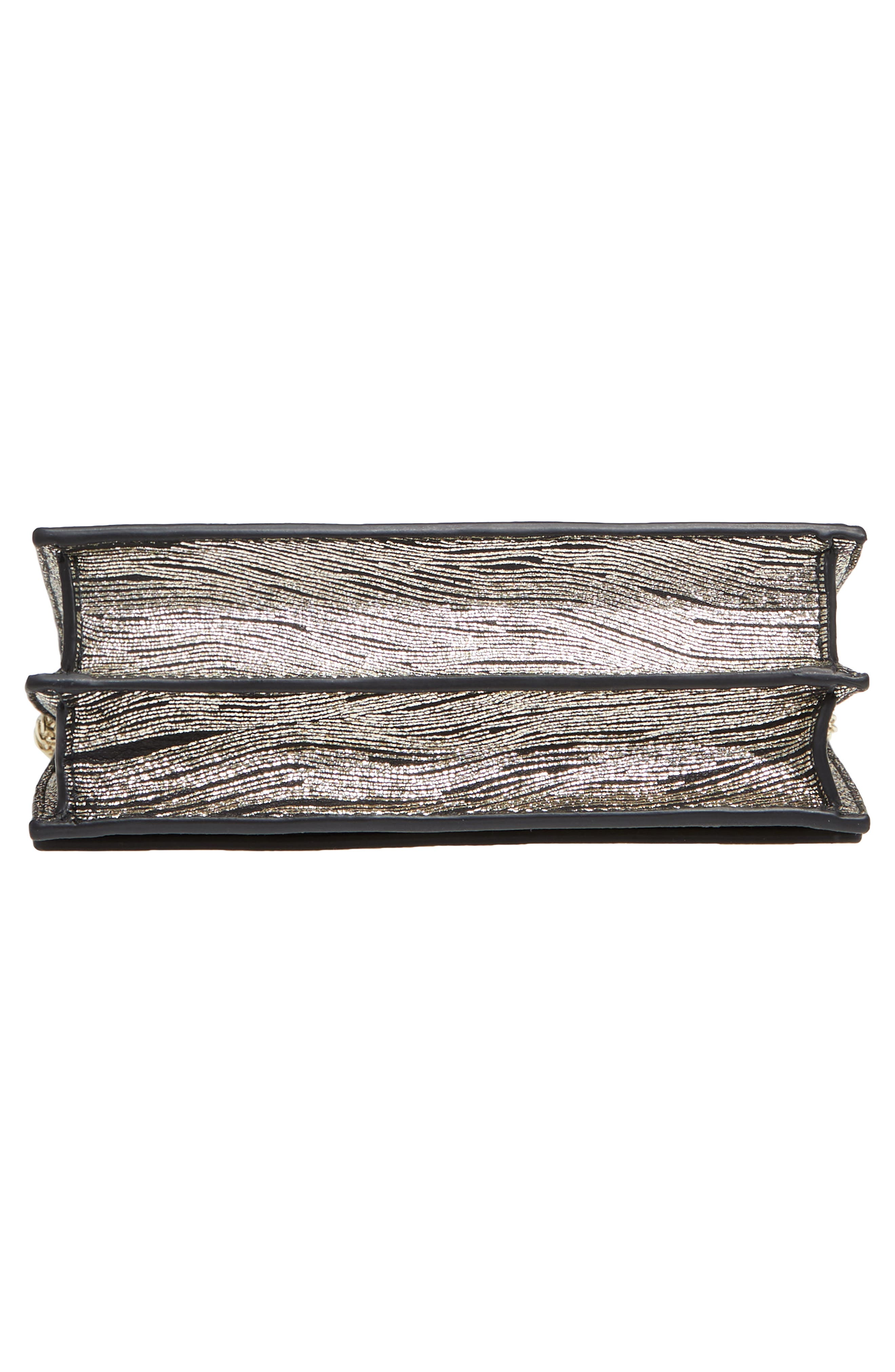 Alexia Metallic Calfskin Leather Clutch,                             Alternate thumbnail 6, color,                             710