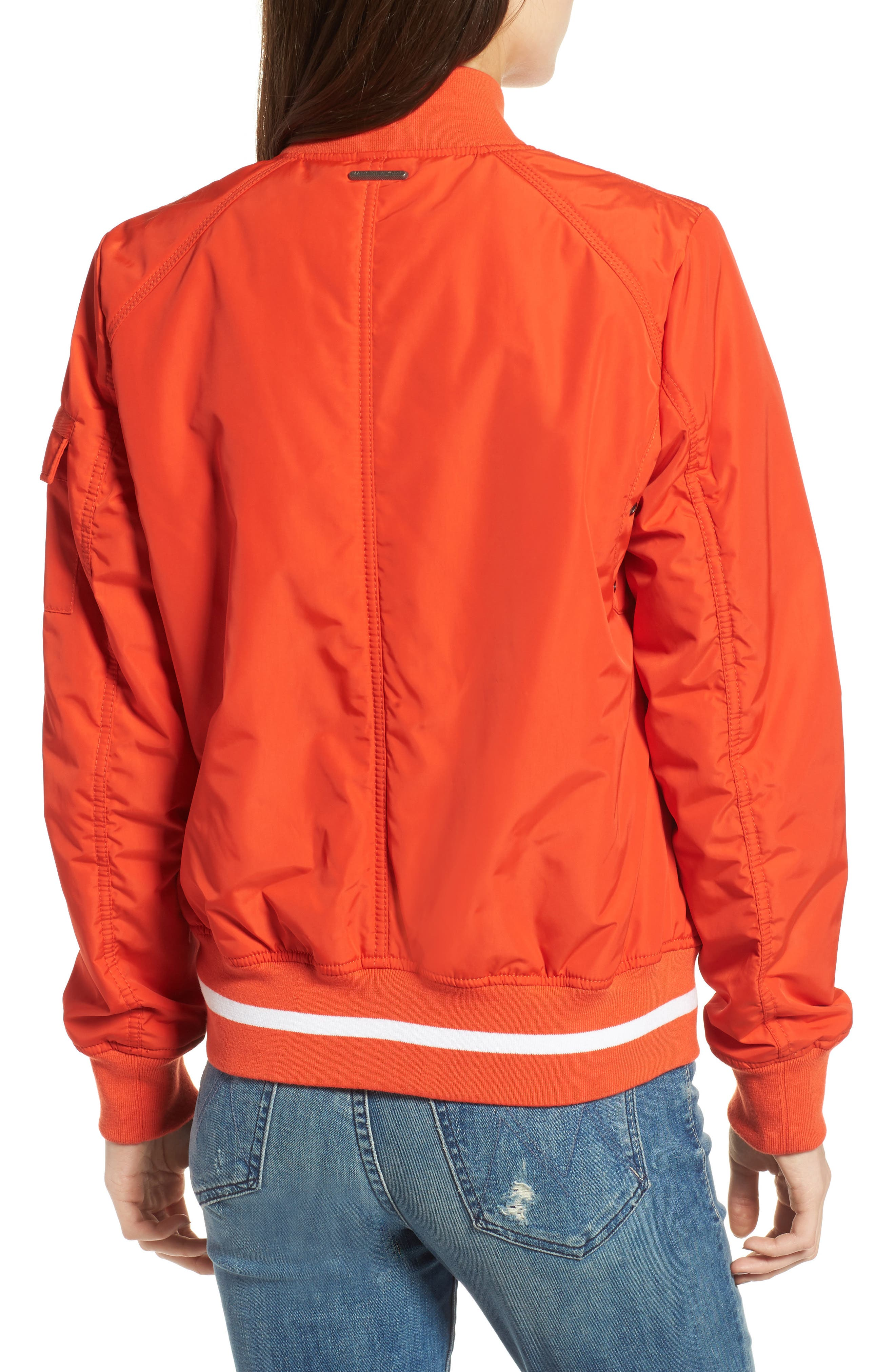 Foster Nylon Twill Bomber Jacket,                             Alternate thumbnail 8, color,
