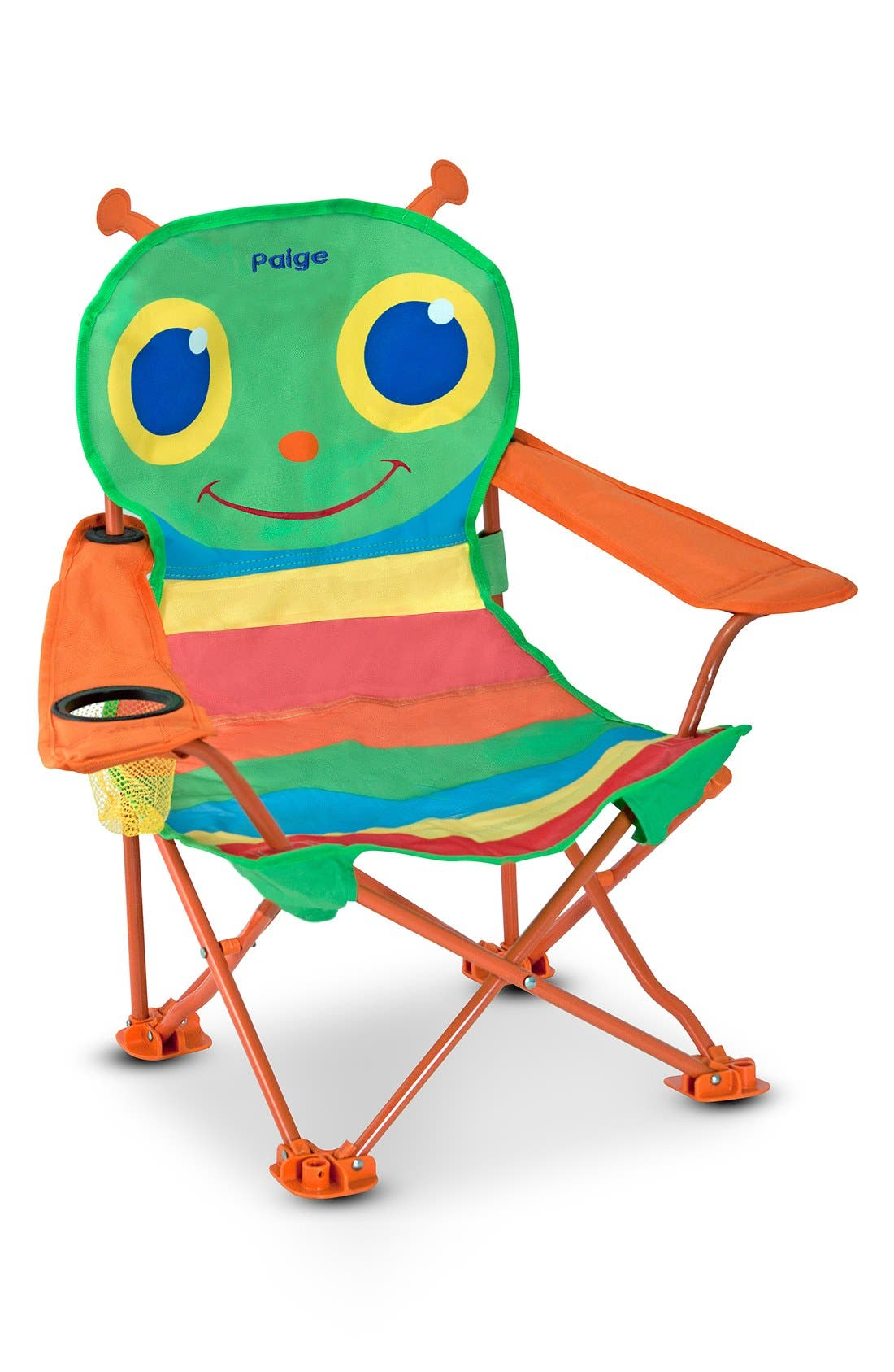 'Happy Giddy' Personalized Folding Chair,                         Main,                         color, GREEN