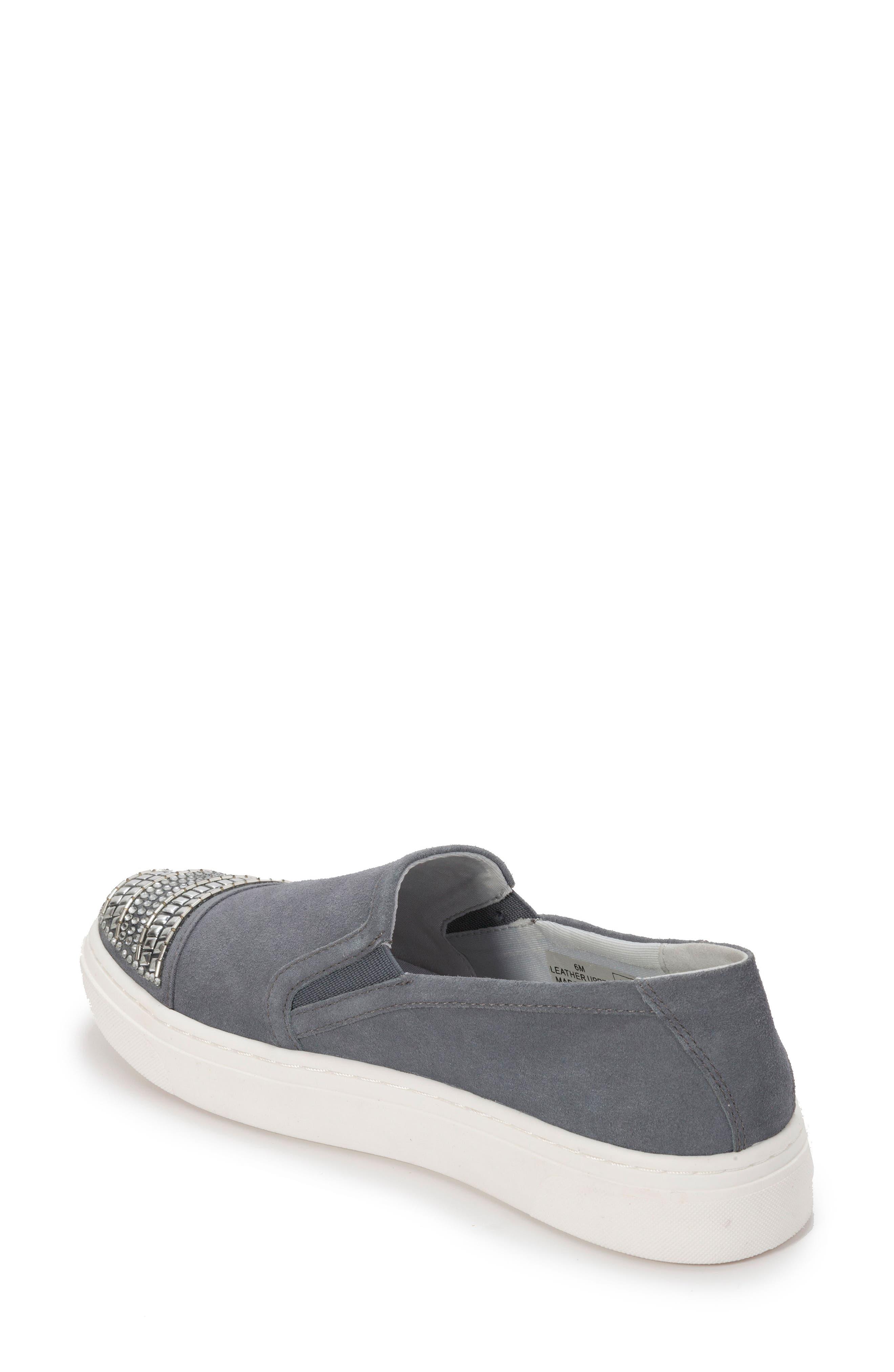Finley Slip-On Sneaker,                             Alternate thumbnail 2, color,                             DENIM BLUE SUEDE