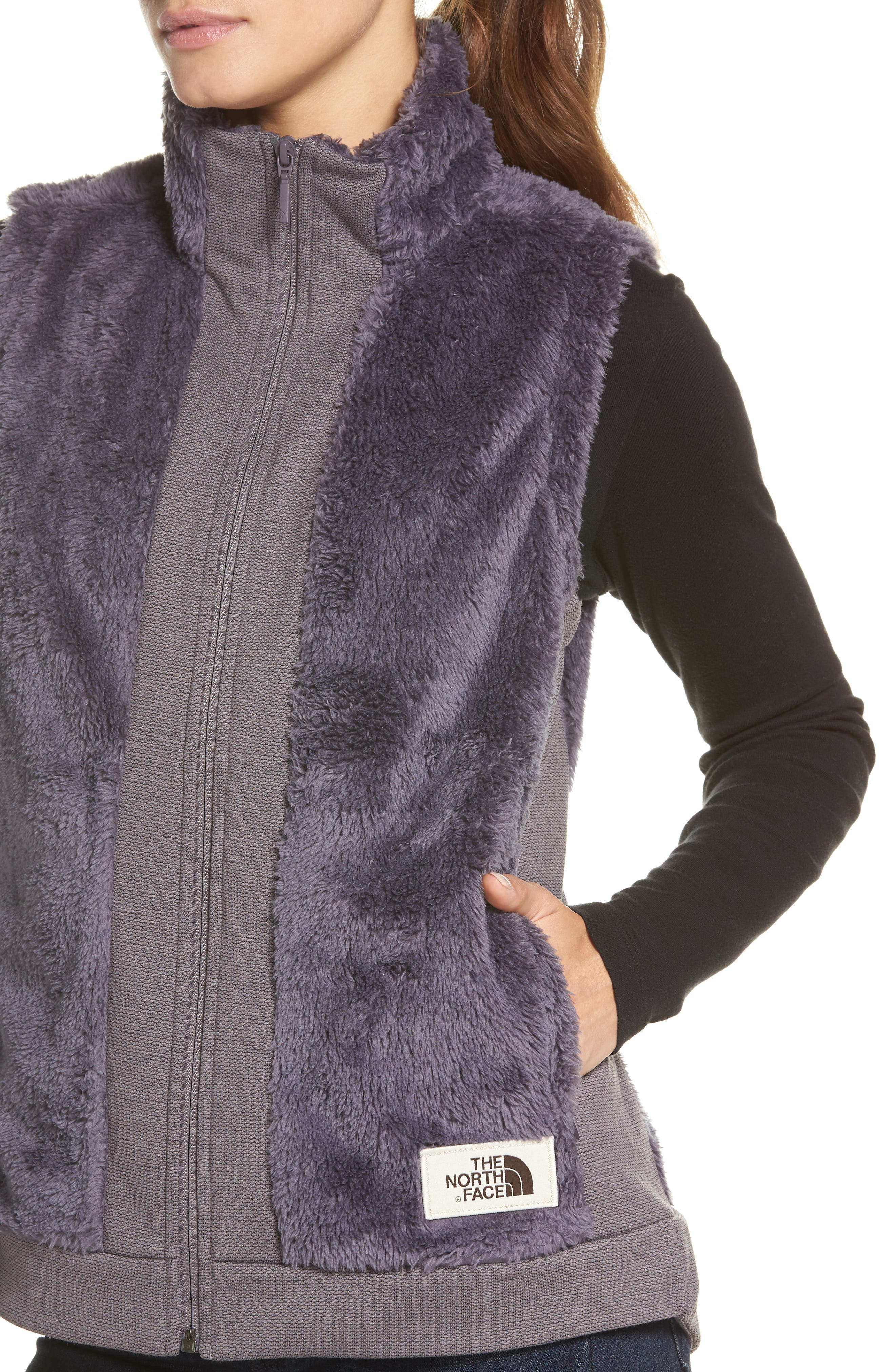 Faux Fur Vest,                             Alternate thumbnail 4, color,                             RABBIT GREY