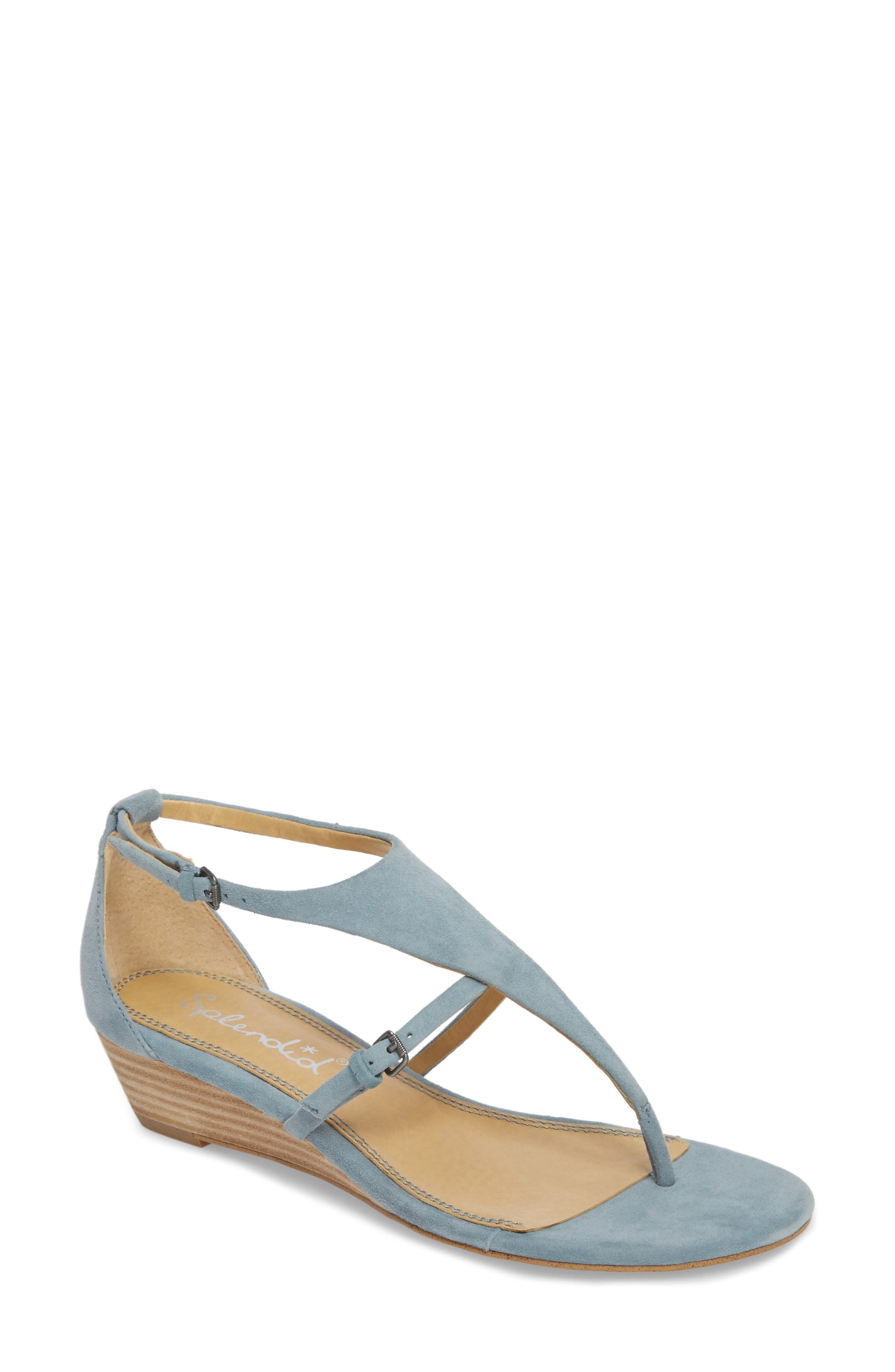 Brooklyn V-Strap Wedge Sandal,                             Main thumbnail 4, color,