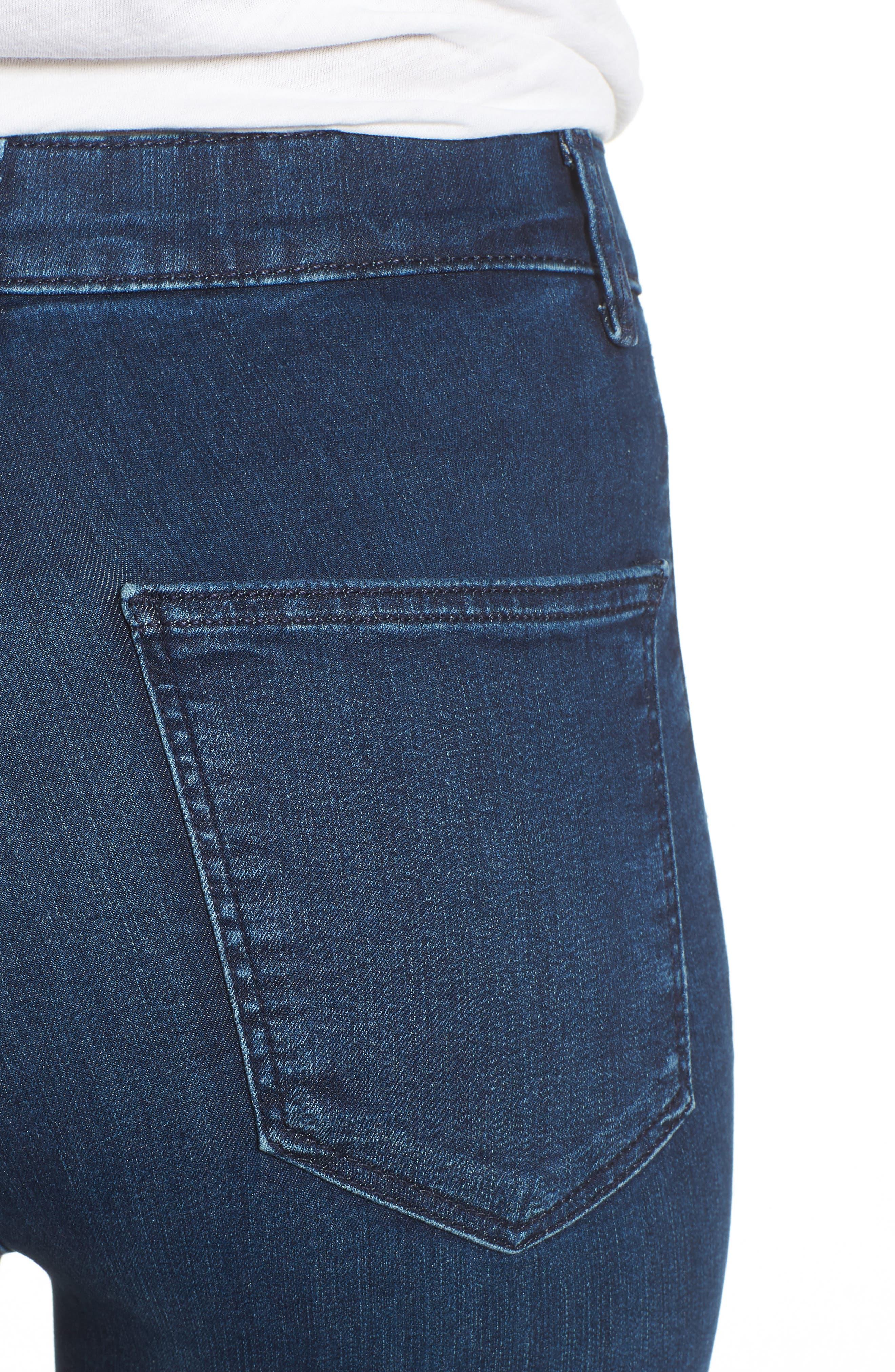 Moto Joni Indigo Jeans,                             Alternate thumbnail 4, color,                             400