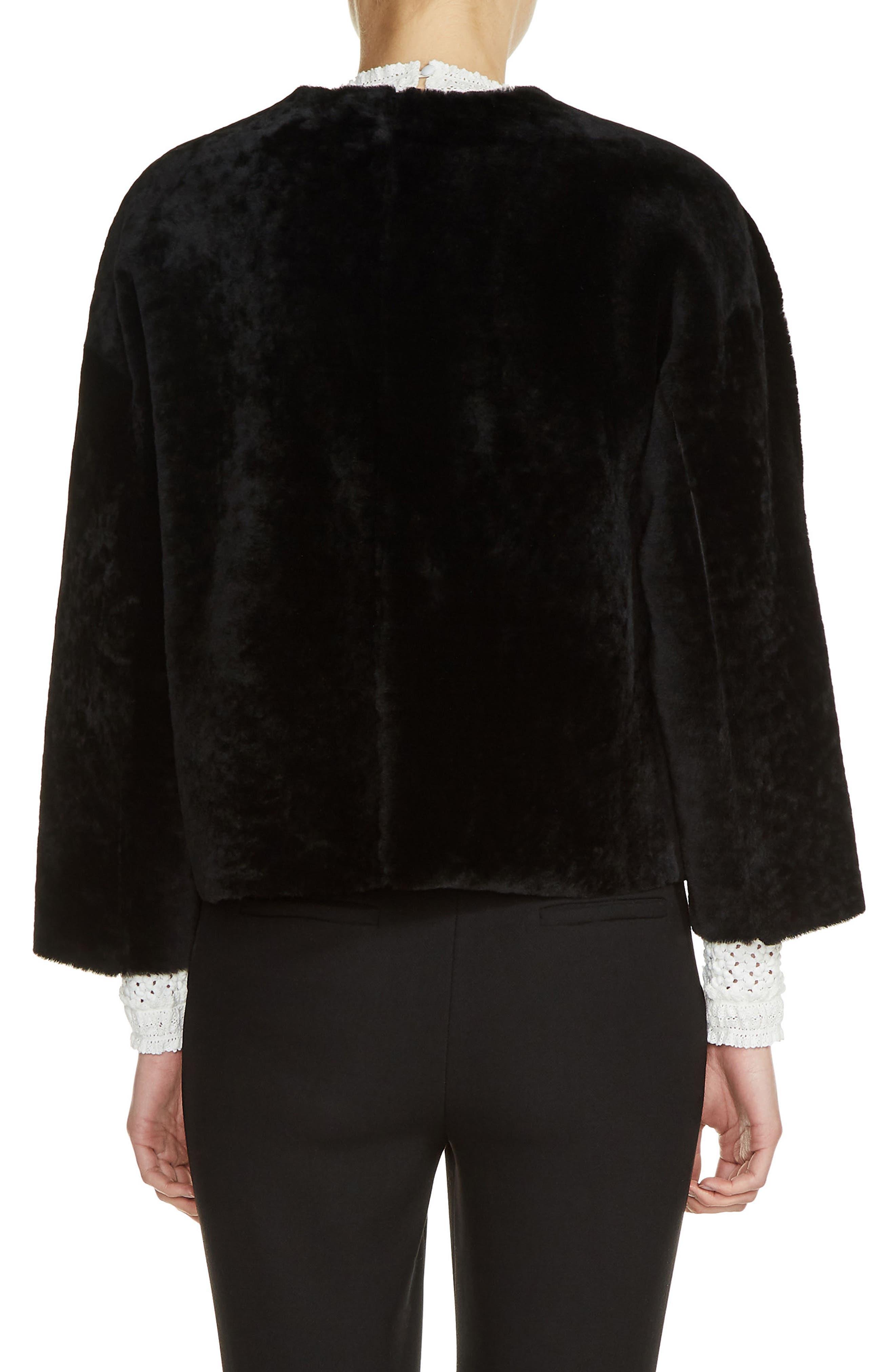 Reversible Genuine Shearling & Leather Jacket,                             Alternate thumbnail 2, color,                             001
