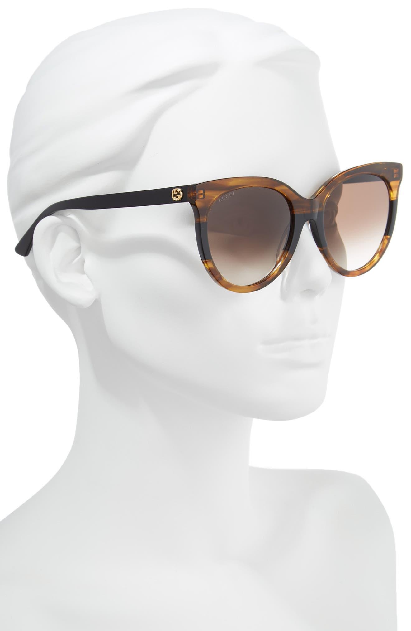 GUCCI,                             55mm Round Sunglasses,                             Alternate thumbnail 2, color,                             213