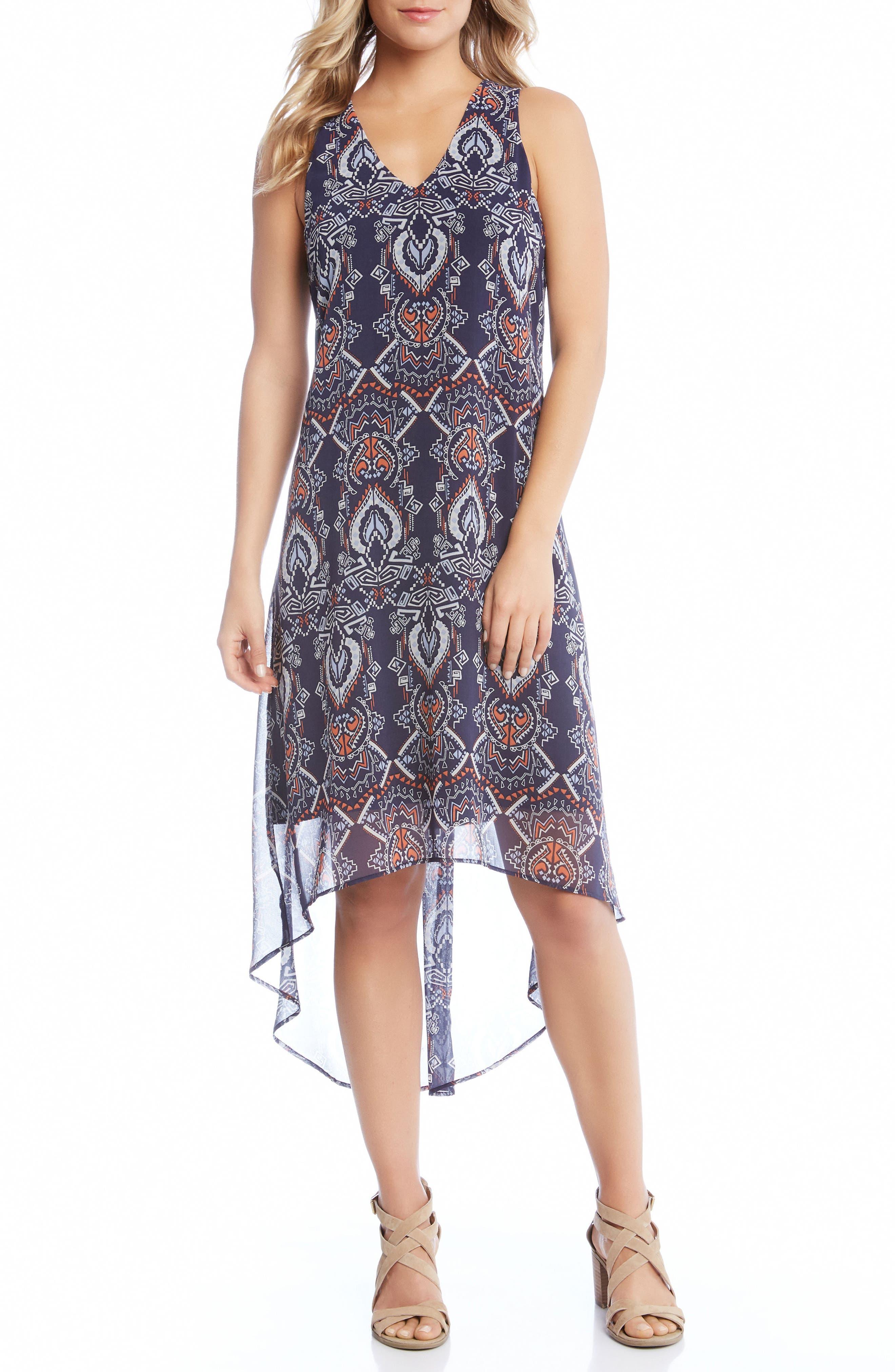 High/Low Chiffon Dress,                             Main thumbnail 1, color,
