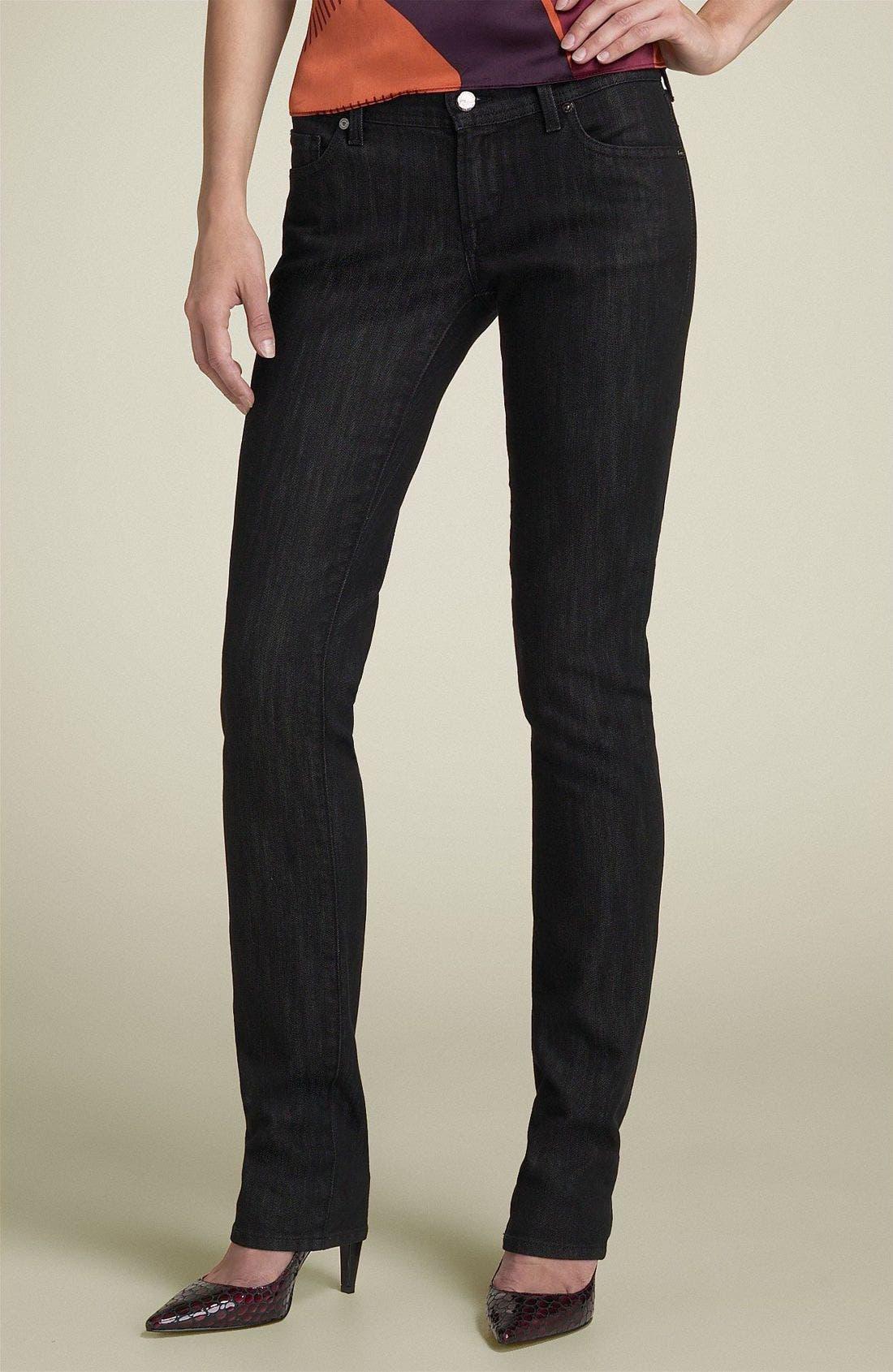'Ava' Straight Leg Stretch Jeans,                             Alternate thumbnail 2, color,                             007