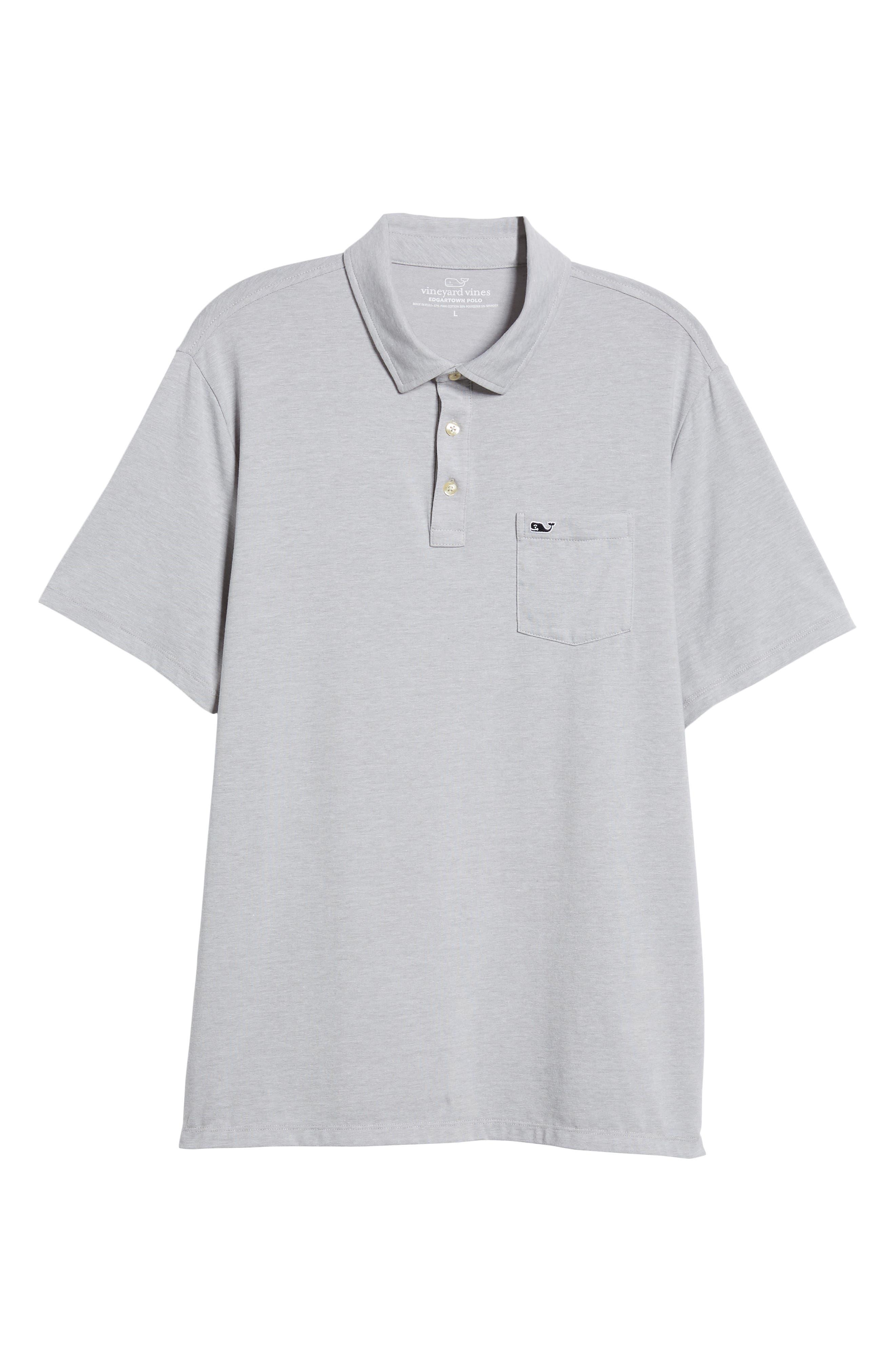 Edgartown Polo Shirt,                             Alternate thumbnail 6, color,                             MONUMENT GRAY