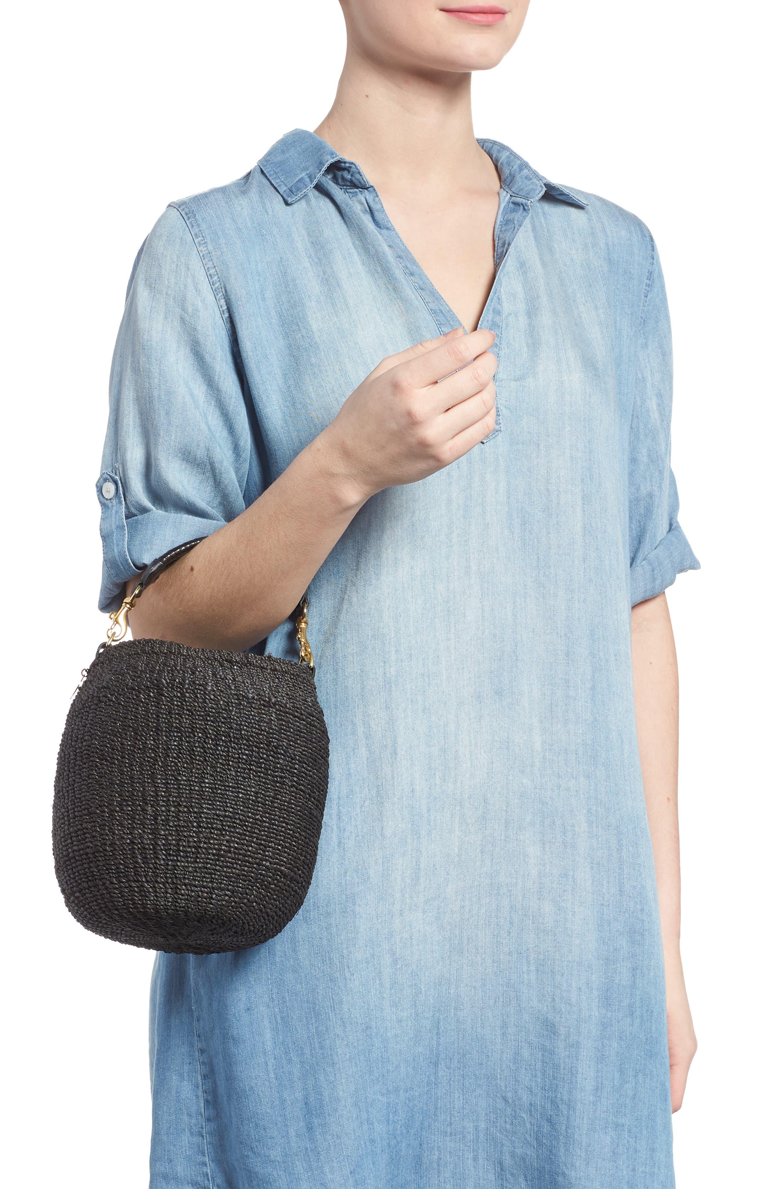 Pot de Miel Top Handle Straw Basket Bag,                             Alternate thumbnail 2, color,                             001