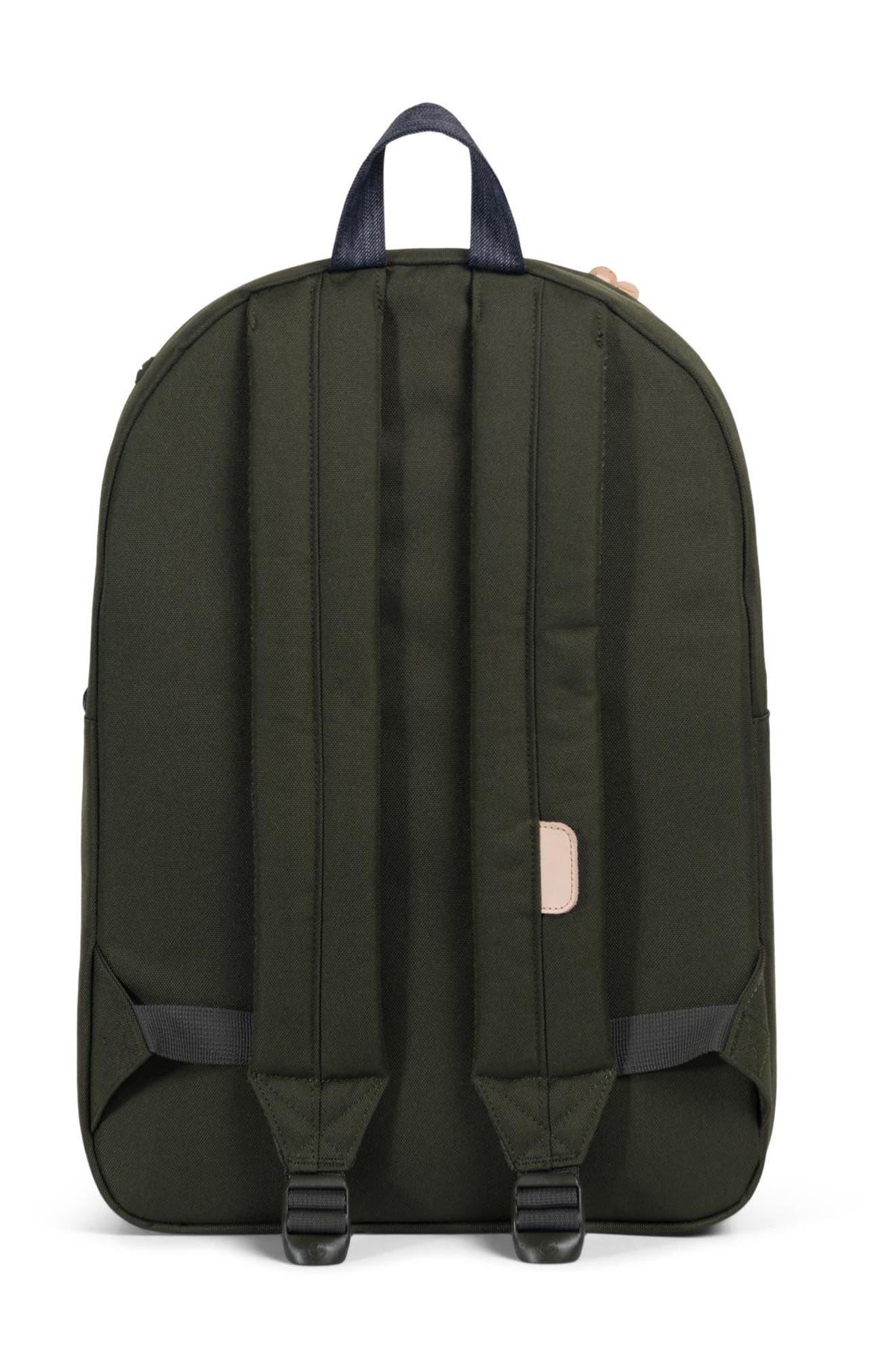 Heritage Offset Denim Backpack,                             Alternate thumbnail 2, color,                             FOREST NIGHT/ DARK DENIM