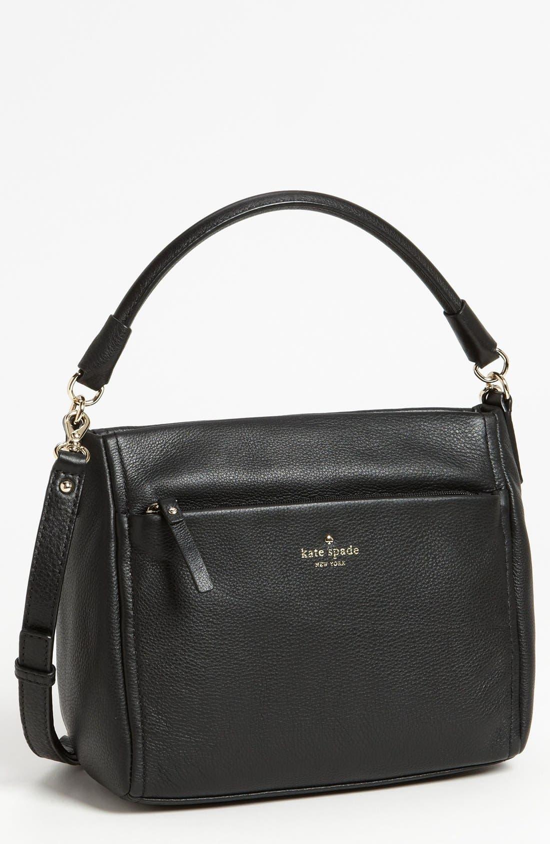 'cobble hill - little curtis' leather crossbody bag,                             Main thumbnail 1, color,                             001