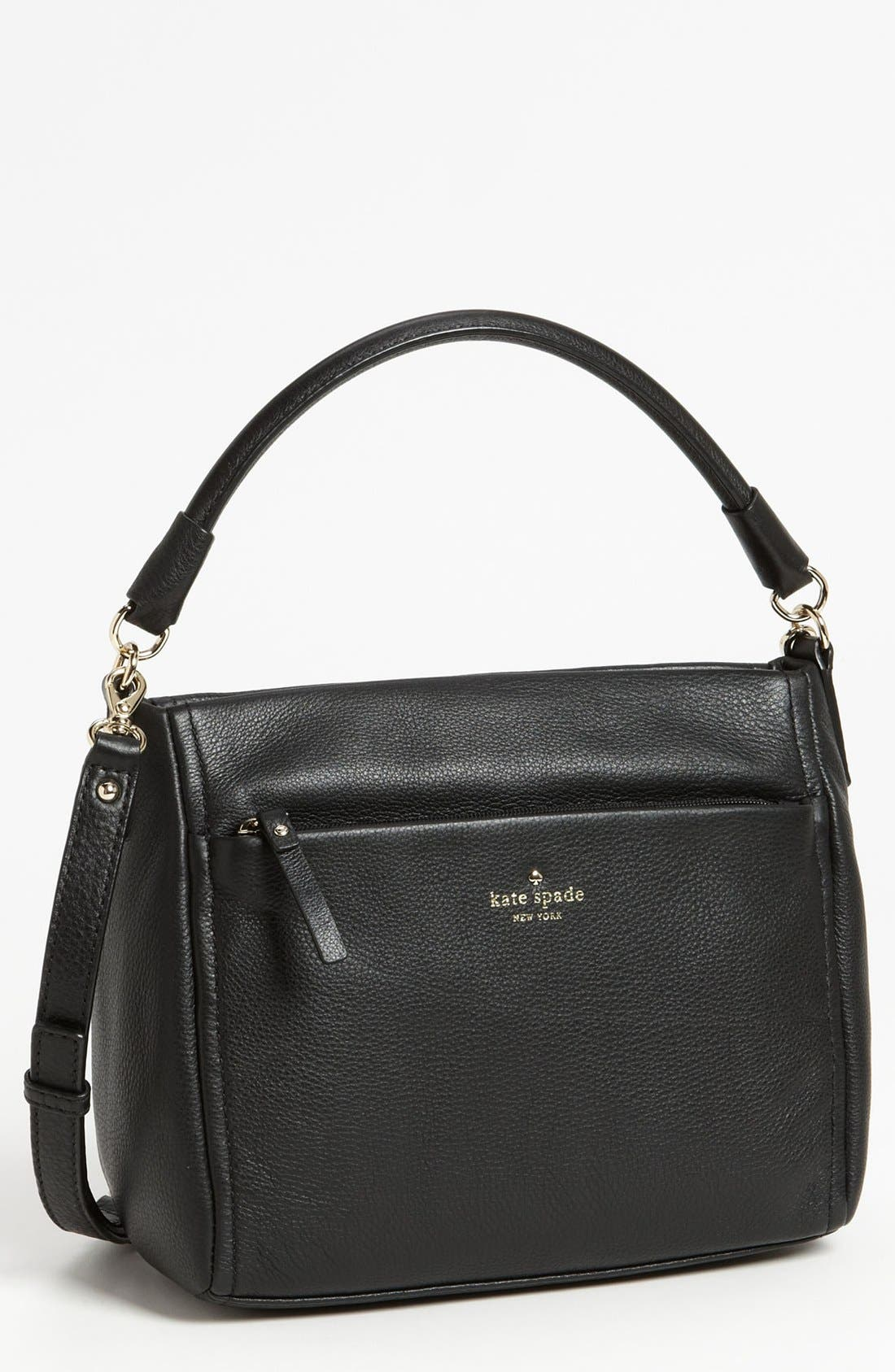 'cobble hill - little curtis' leather crossbody bag, Main, color, 001