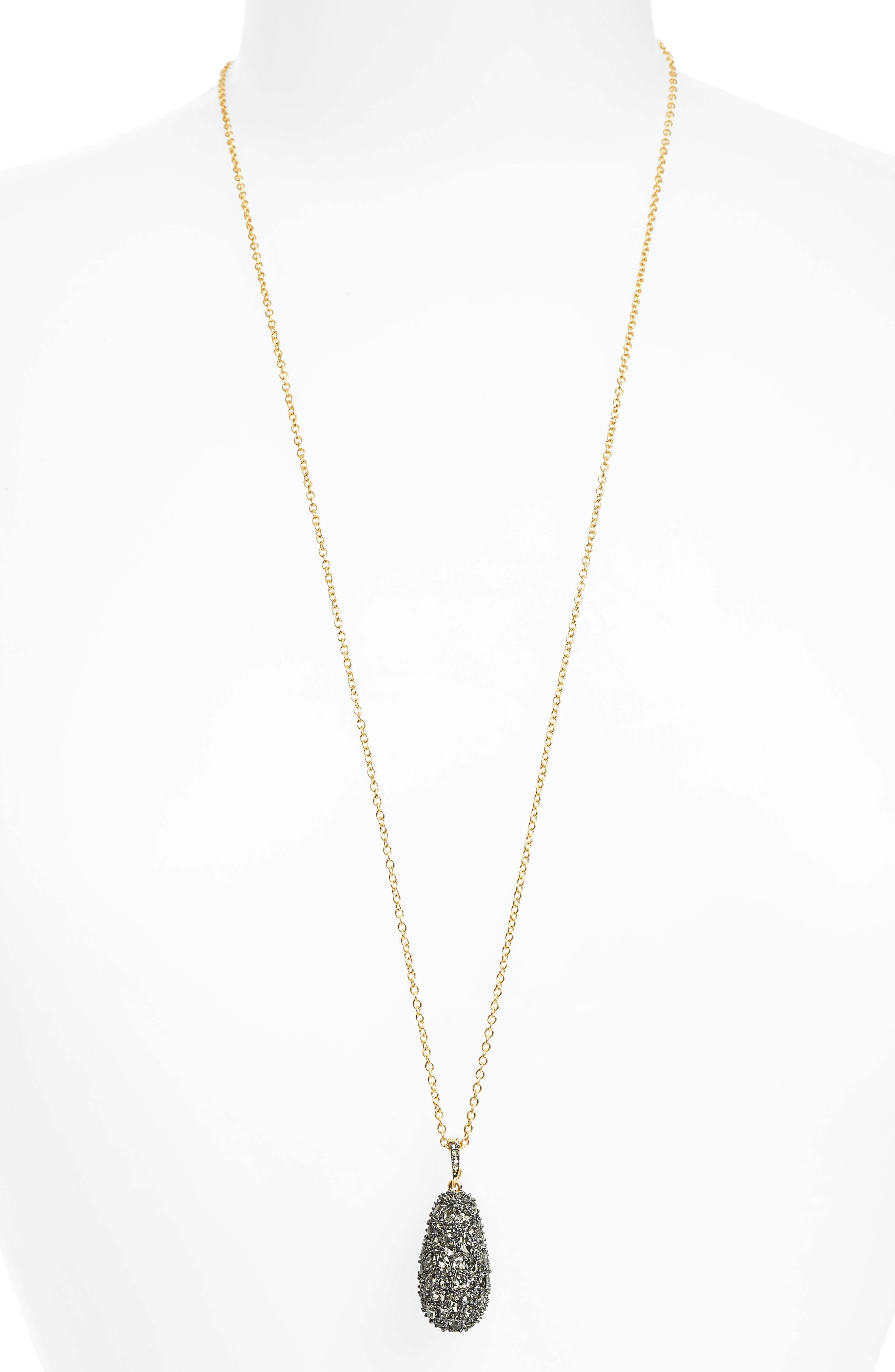 Pebblestone Long Pendant Necklace,                         Main,                         color, 710