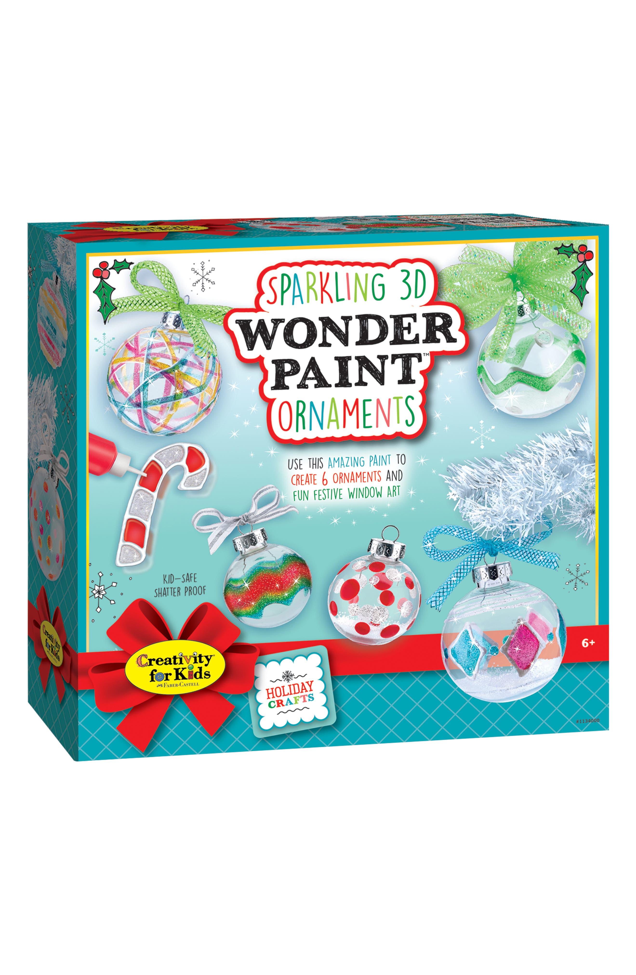 Sparkling 3D Wonder Paint<sup>™</sup> Ornament Kit,                         Main,                         color, 110