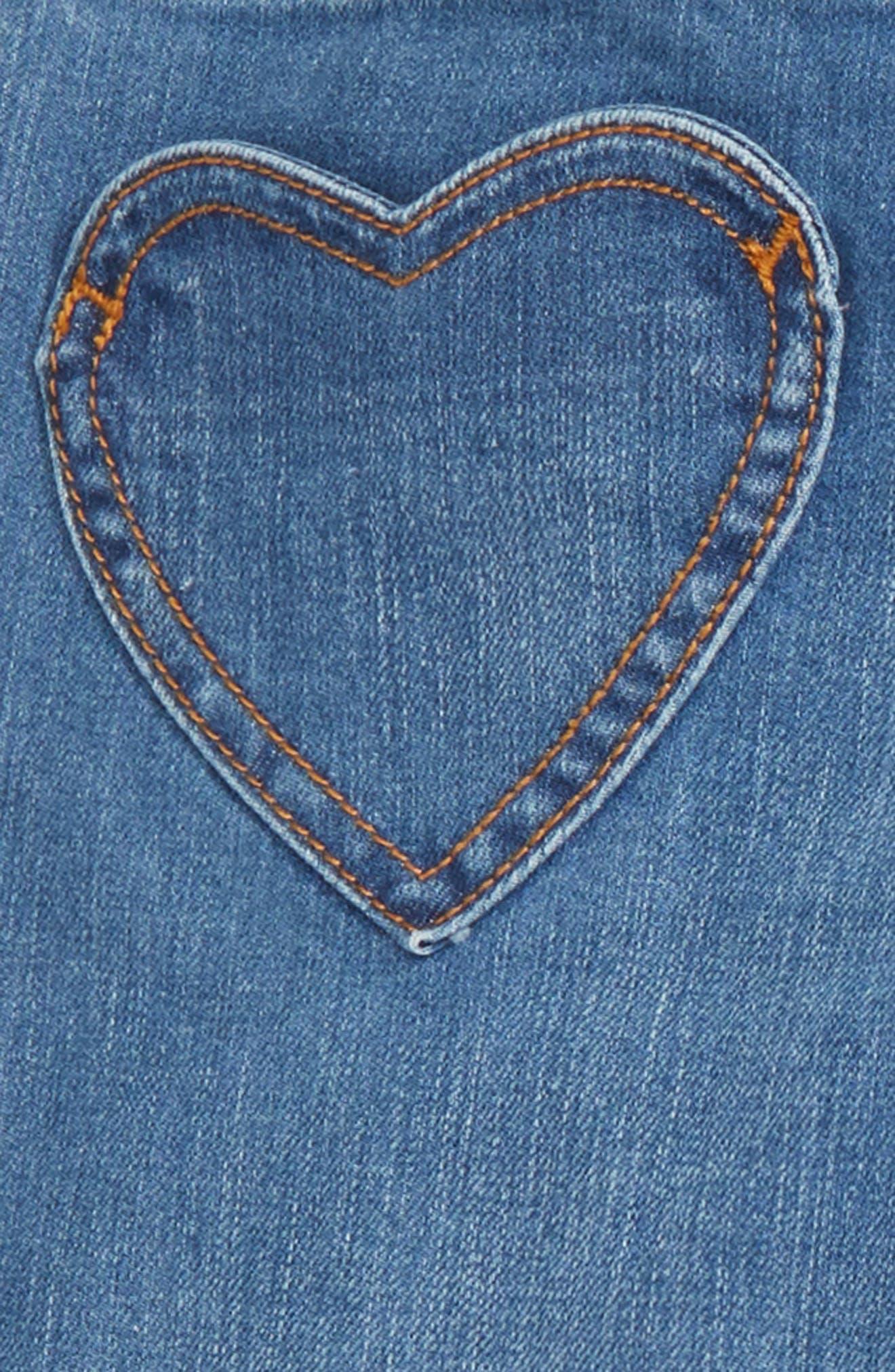 Heart Patch Jeans,                             Alternate thumbnail 3, color,                             MID VINTAGE