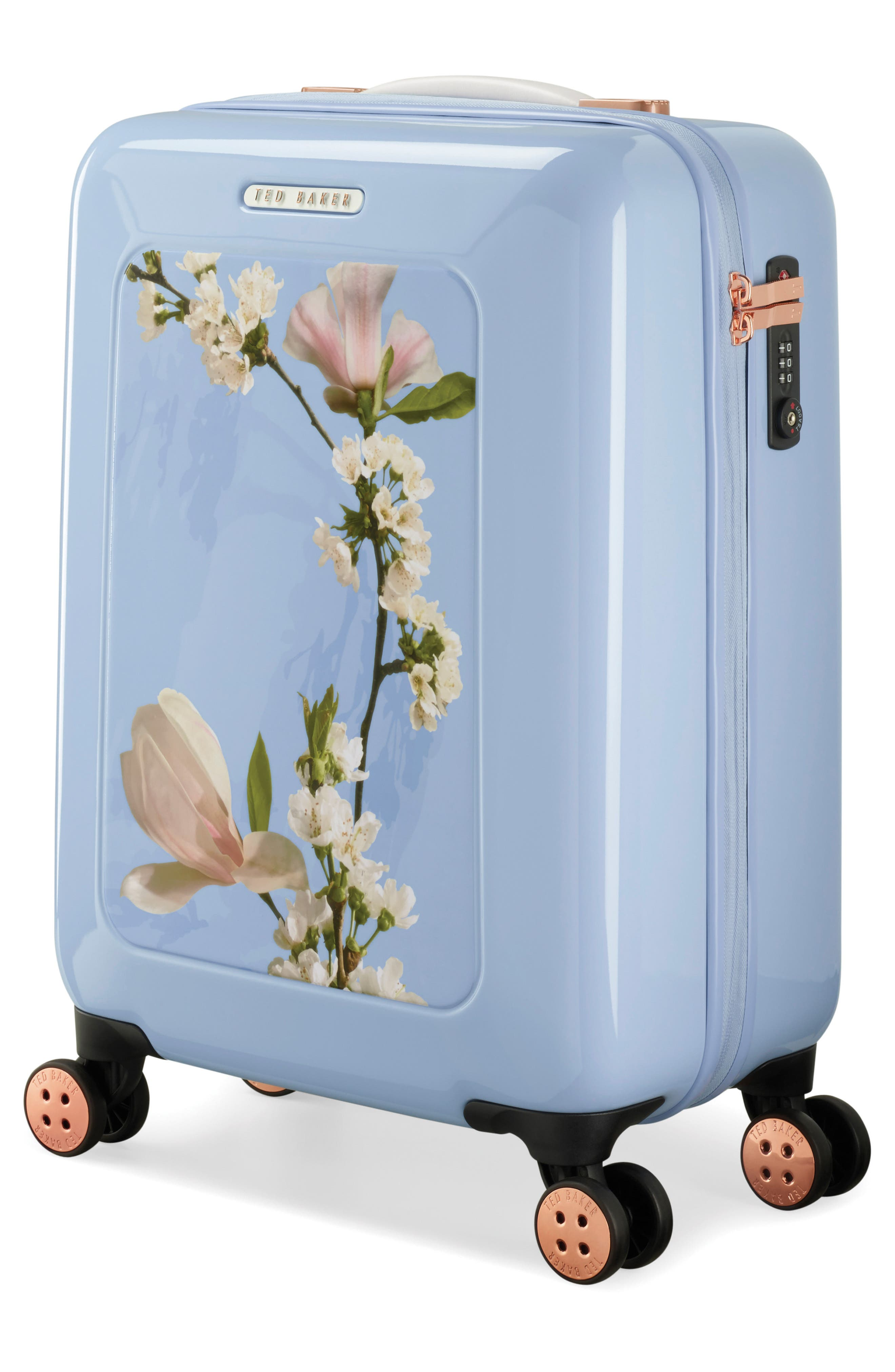 Small Harmony 21-Inch Spinner Carry-On,                             Alternate thumbnail 3, color,                             BLUE