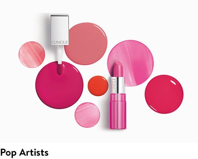 Pop artists: Clinique lips.