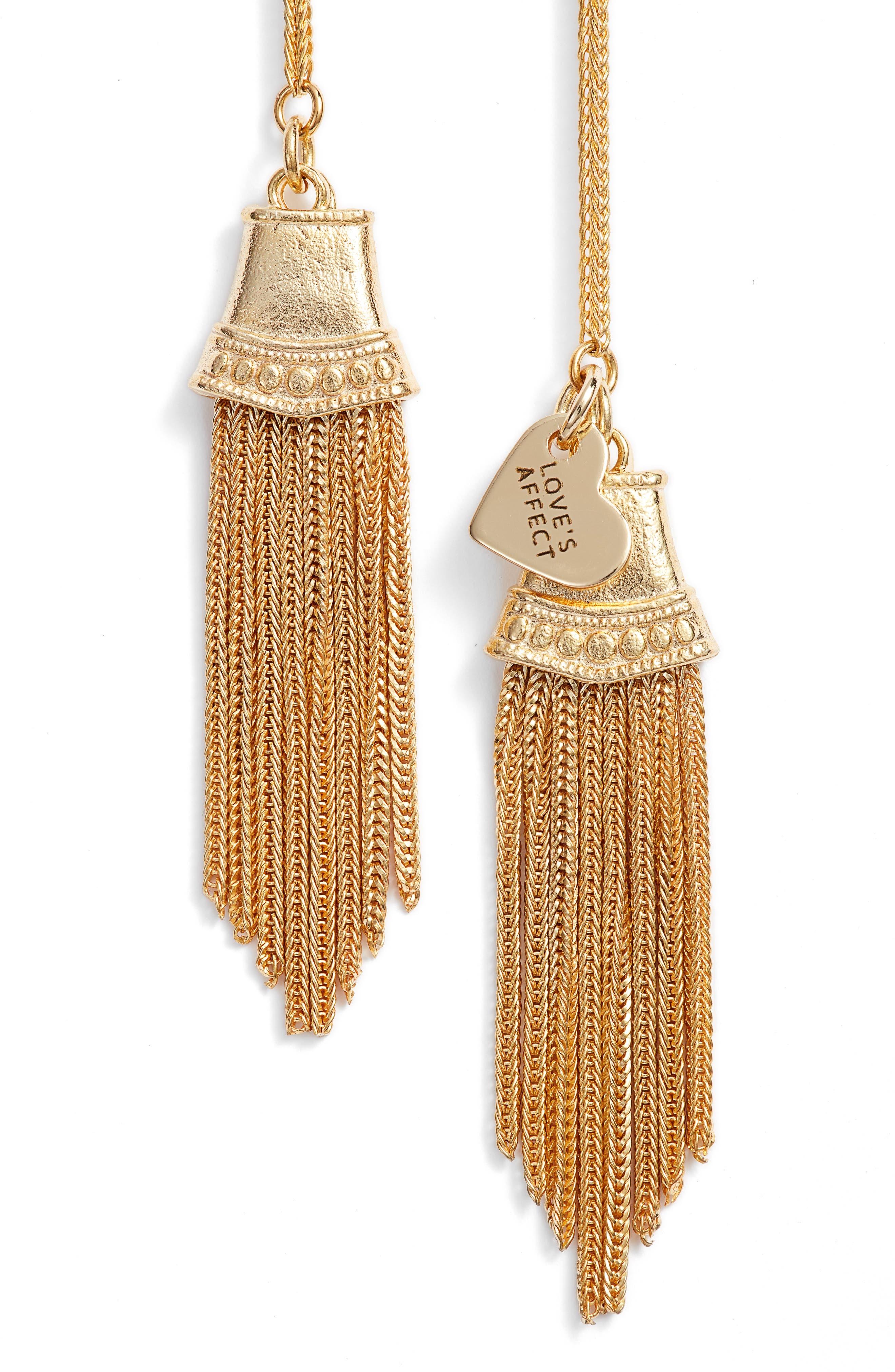 Love's Affect Brielle Tassel Wrap Necklace,                             Alternate thumbnail 2, color,                             GOLD