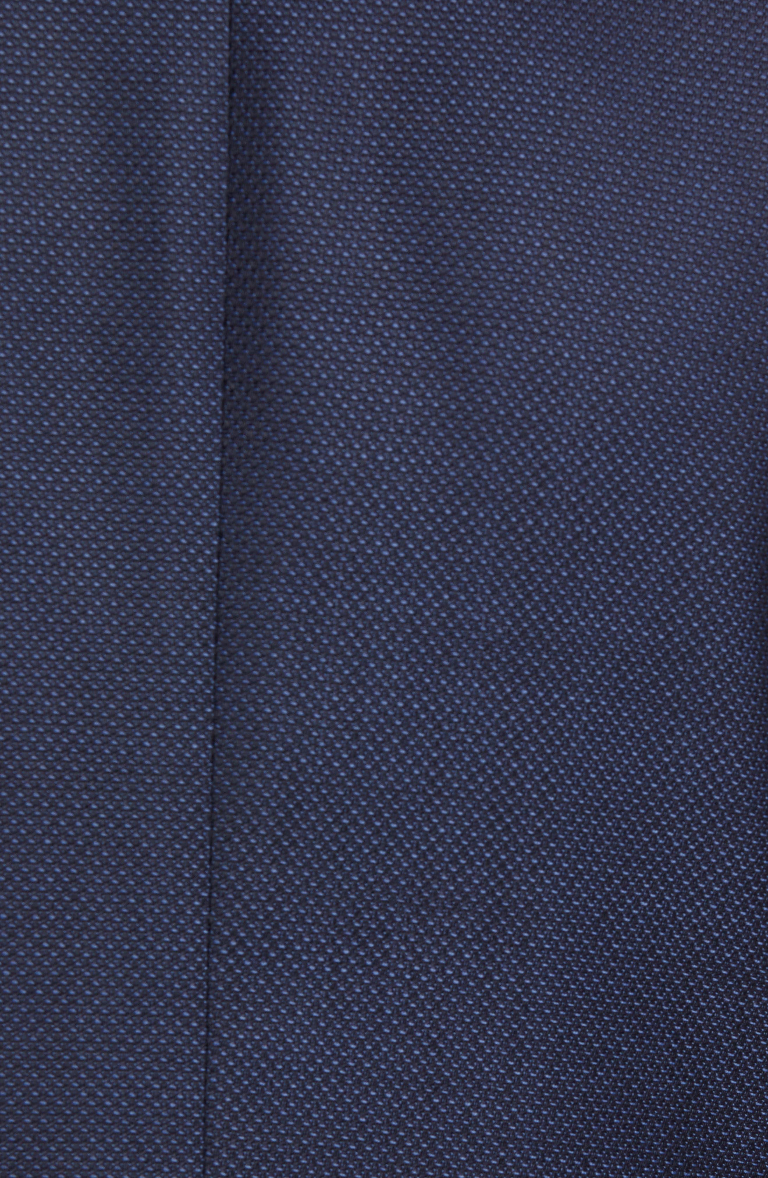 Nobis Trim Fit Wool Blazer,                             Alternate thumbnail 6, color,                             NAVY