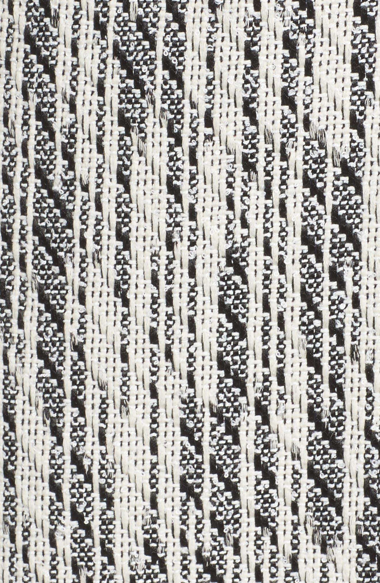 Dolce Vita Tweed Shift Dress,                             Alternate thumbnail 5, color,                             100
