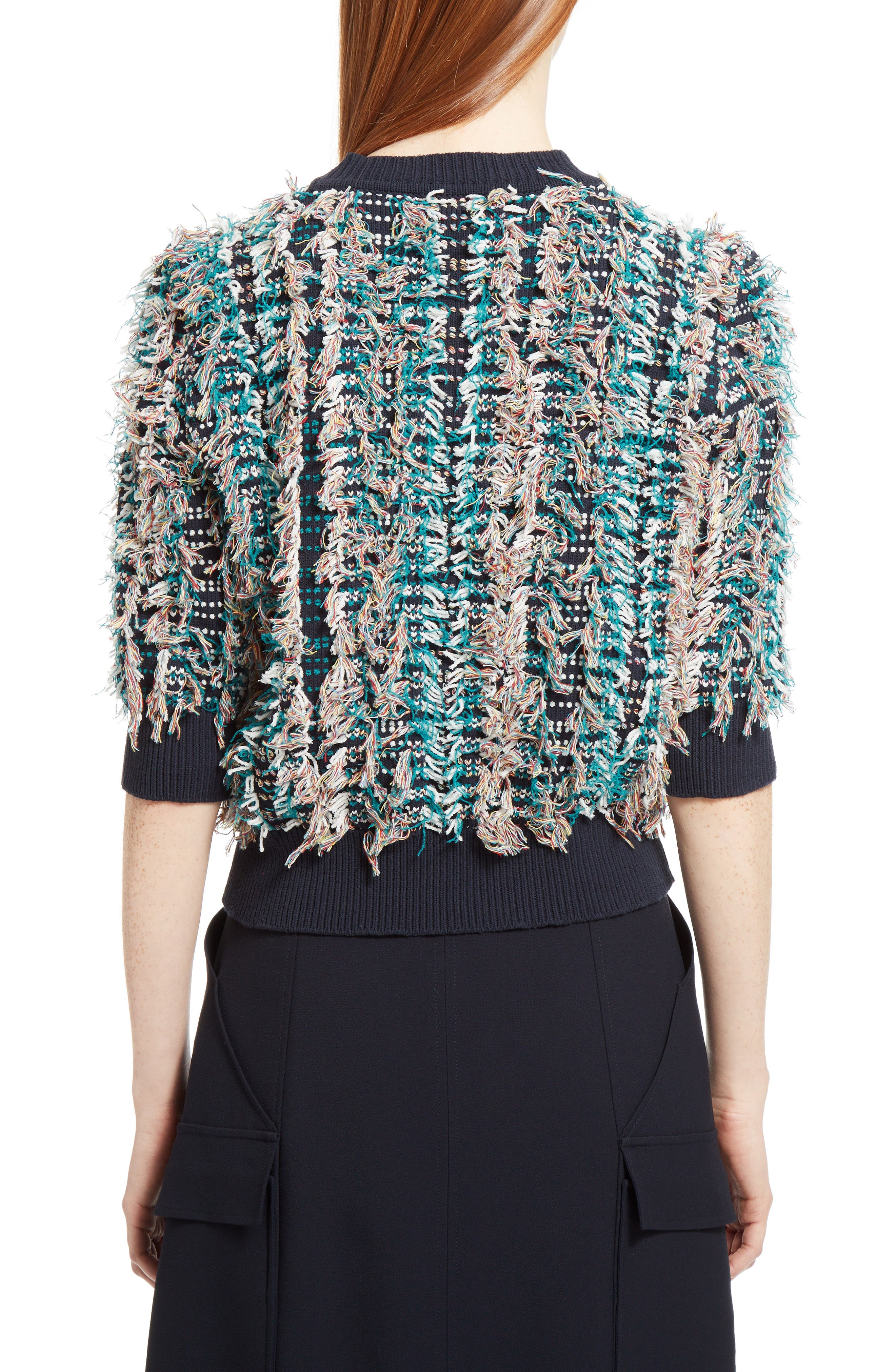 Fringe Knit Sweater,                             Alternate thumbnail 2, color,                             400
