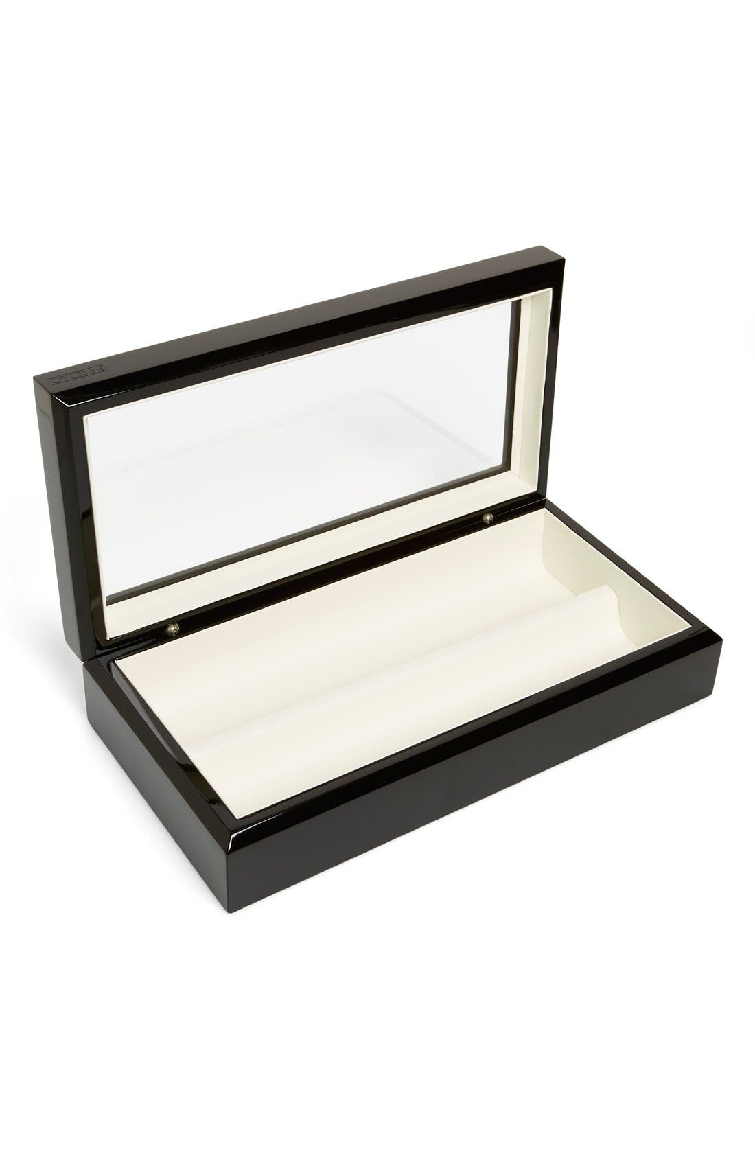 Lacquered Wood Window Top Eyewear Organizer Case,                             Alternate thumbnail 4, color,                             001