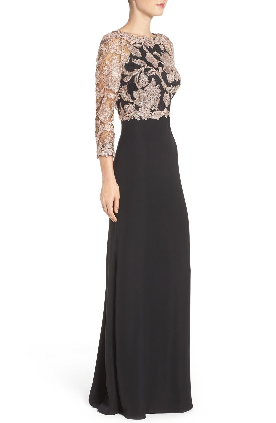 Embroidered Lace Gown,                             Alternate thumbnail 27, color,