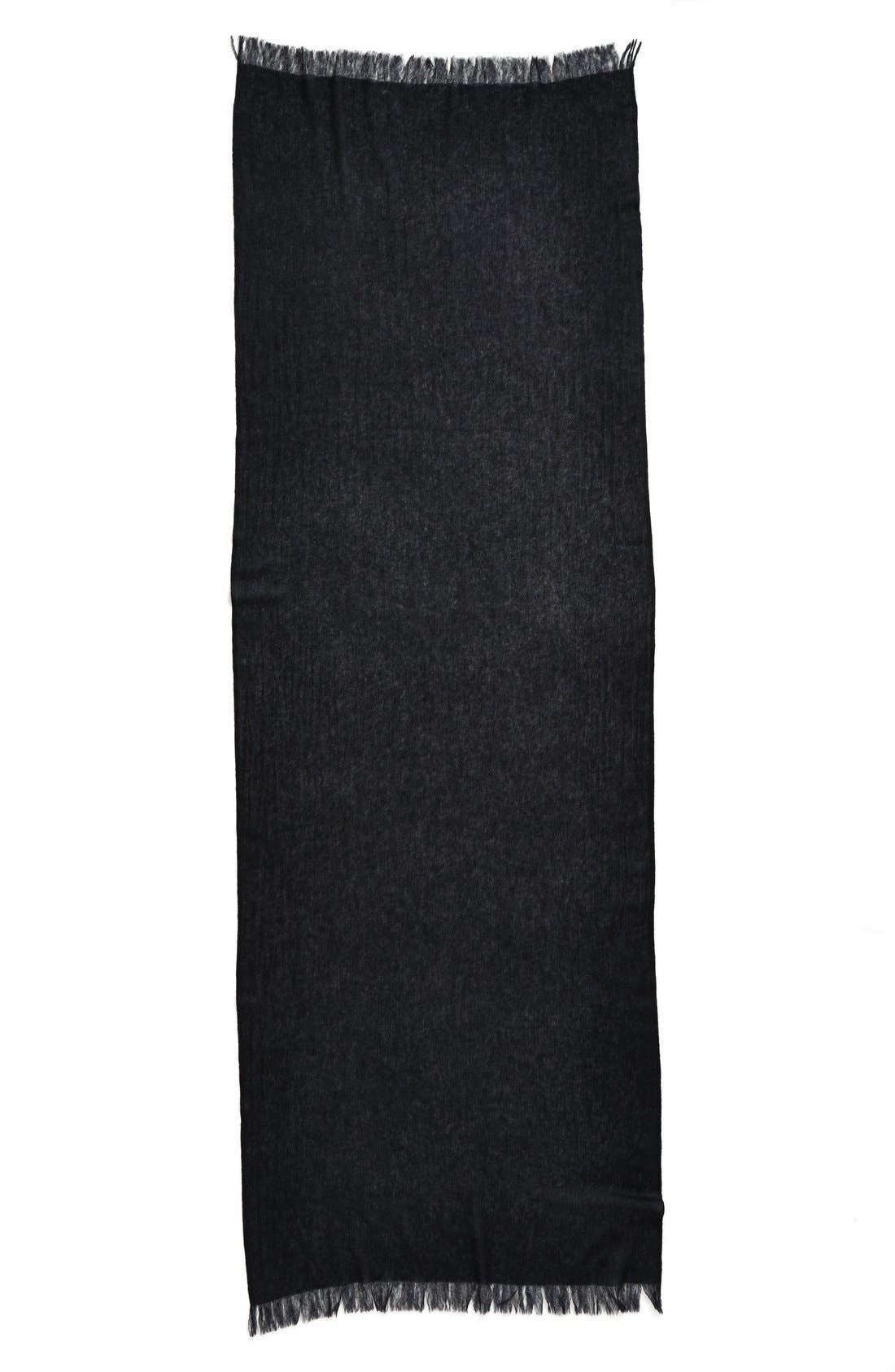 Caslon<sup>®</sup> Heathered Cashmere Gauze Scarf,                             Alternate thumbnail 7, color,                             001