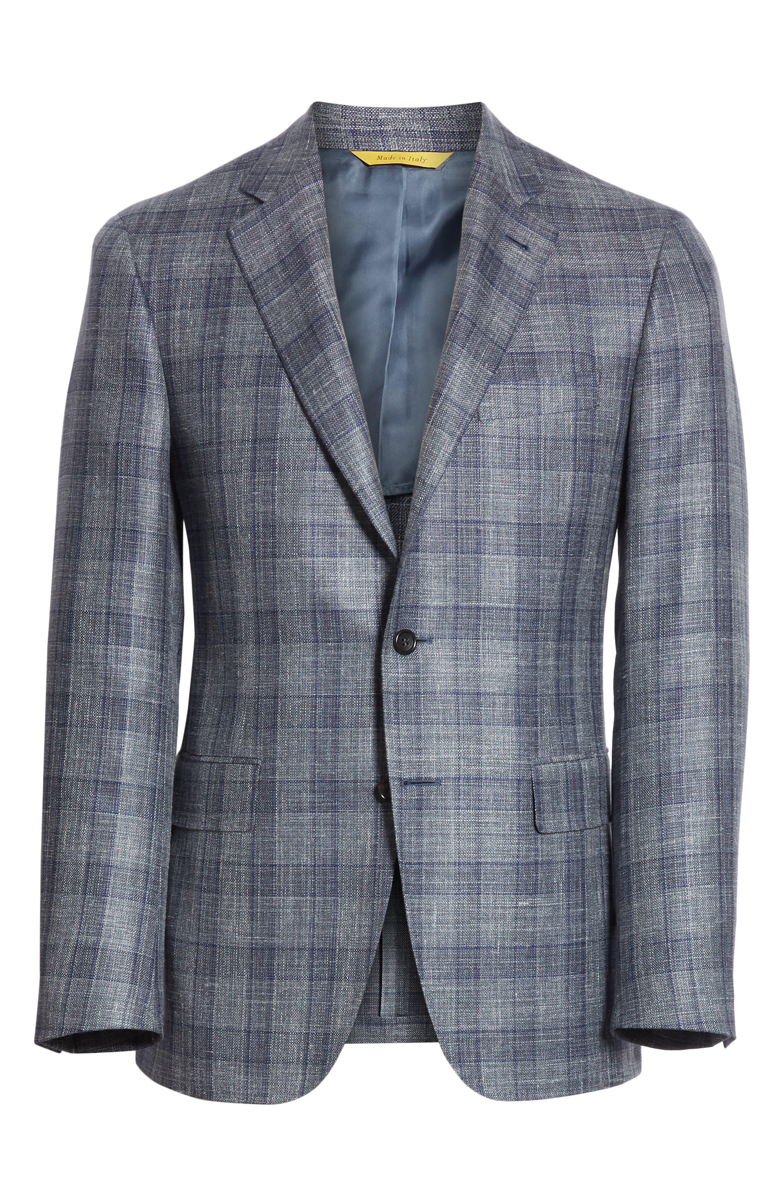Classic Fit Wool Blend Check Sport Coat,                             Alternate thumbnail 5, color,                             020