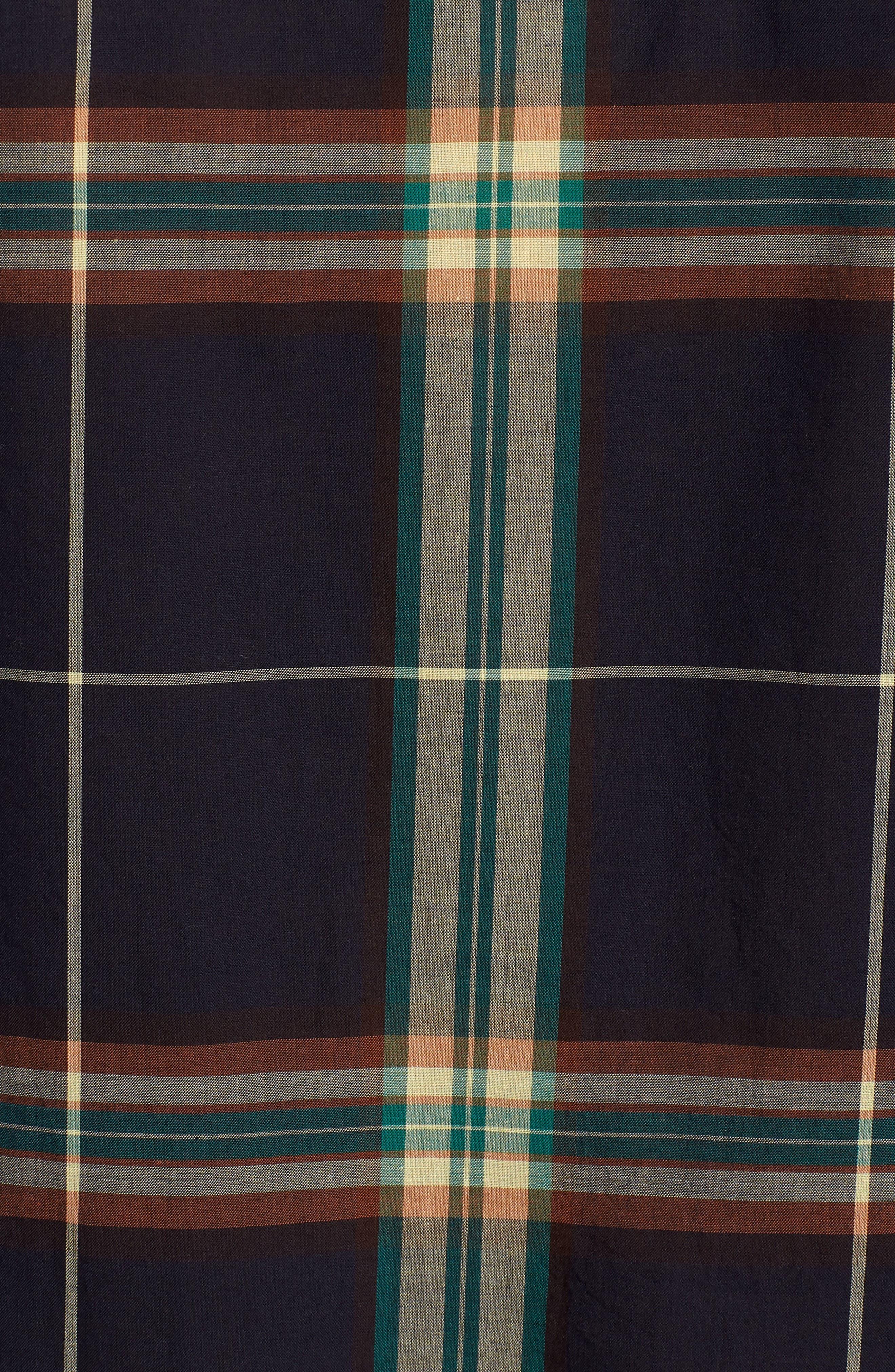 Oversize Ex-Boyfriend Plaid Shirt,                             Alternate thumbnail 6, color,                             300