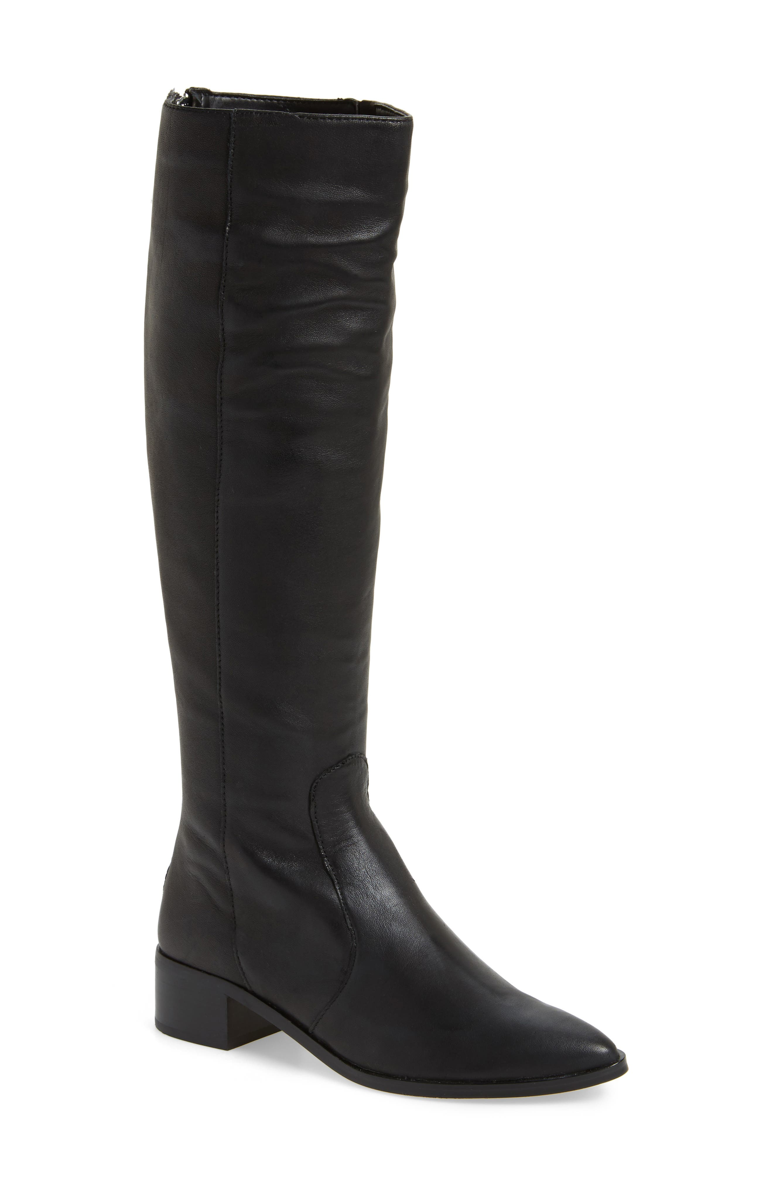 Morey Knee High Riding Boot,                         Main,                         color, 001