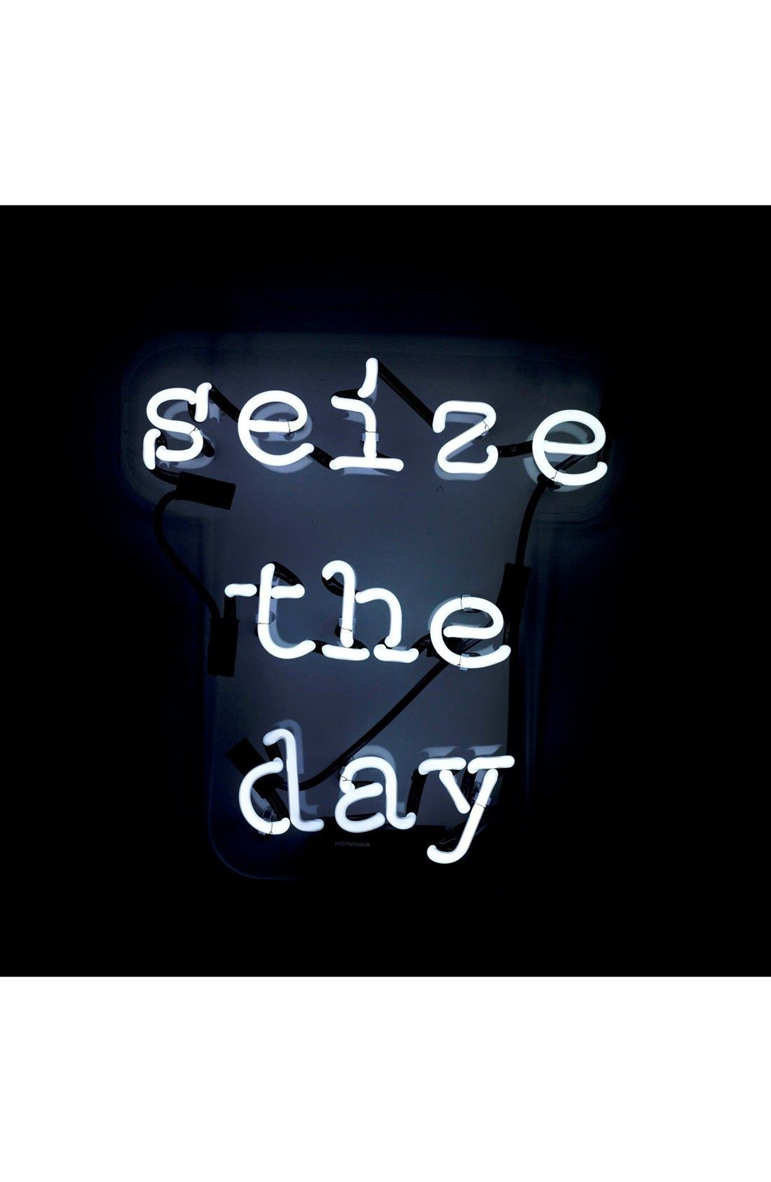 Seize The Day Neon Sign,                             Main thumbnail 1, color,                             100