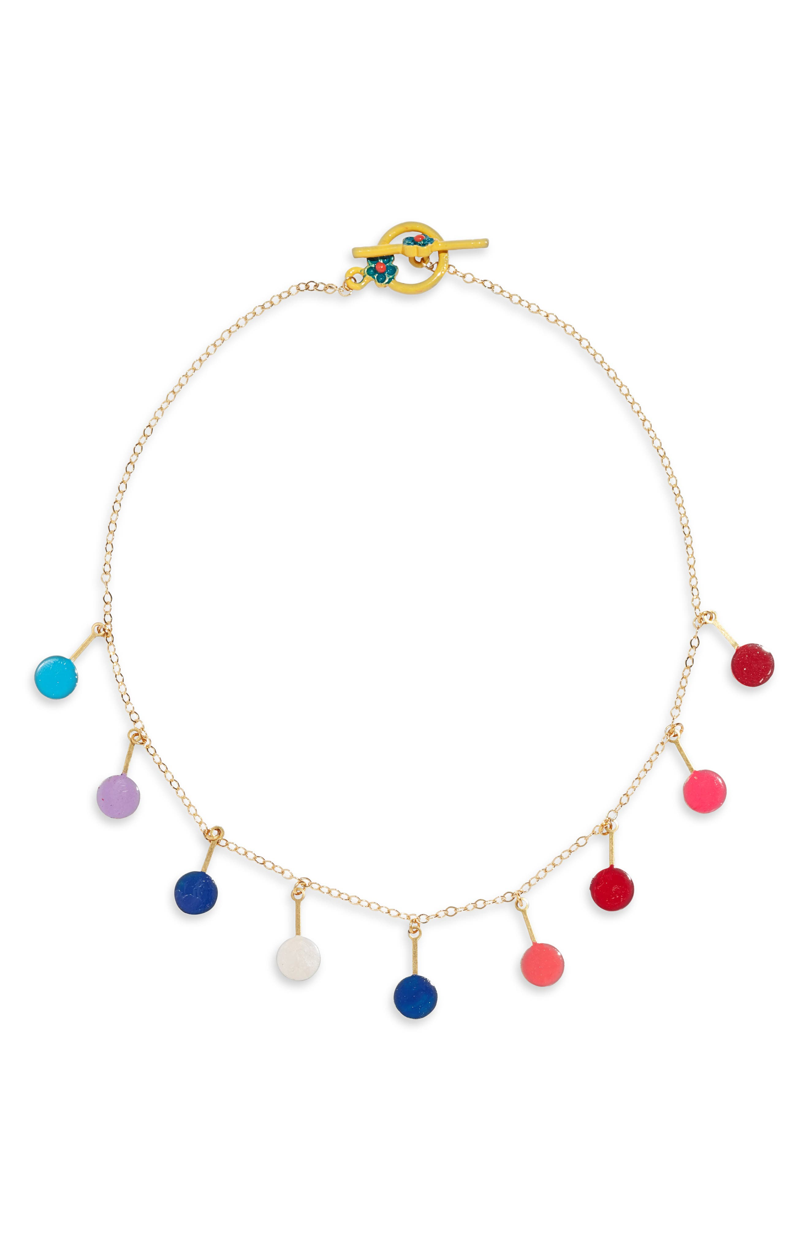 Colorful Dots Choker Necklace,                             Main thumbnail 1, color,                             960