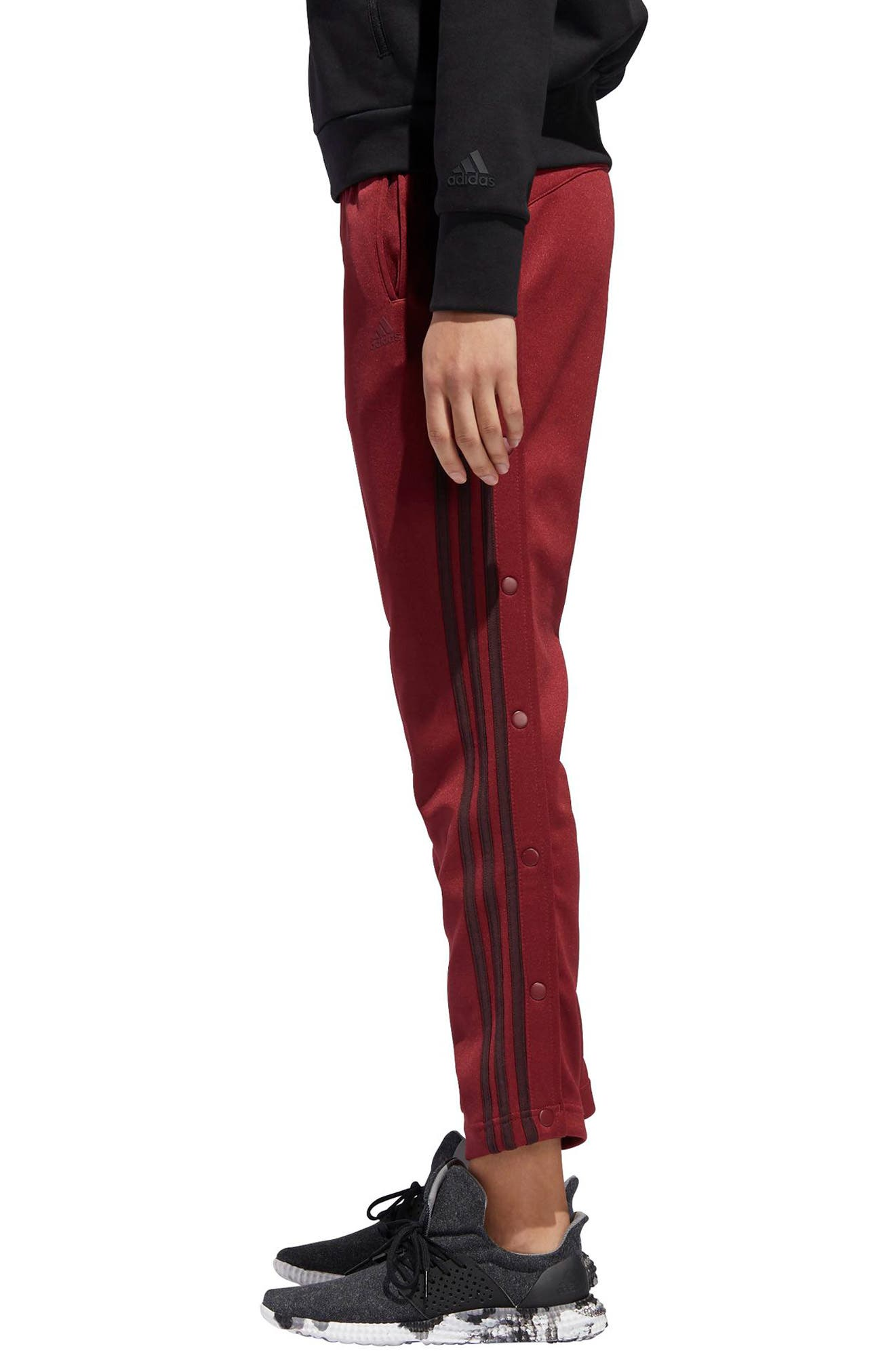 Tricot Snap Pants,                             Alternate thumbnail 4, color,                             NOBLE MAROON/ NIGHT RED