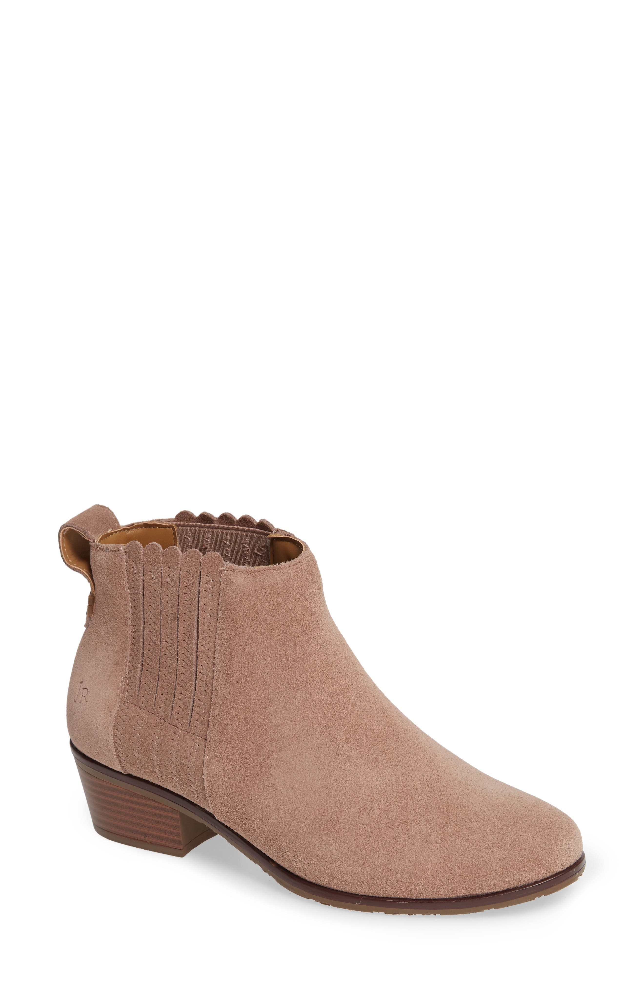 Liddy Waterproof Chelsea Bootie,                             Main thumbnail 1, color,                             STONE SUEDE