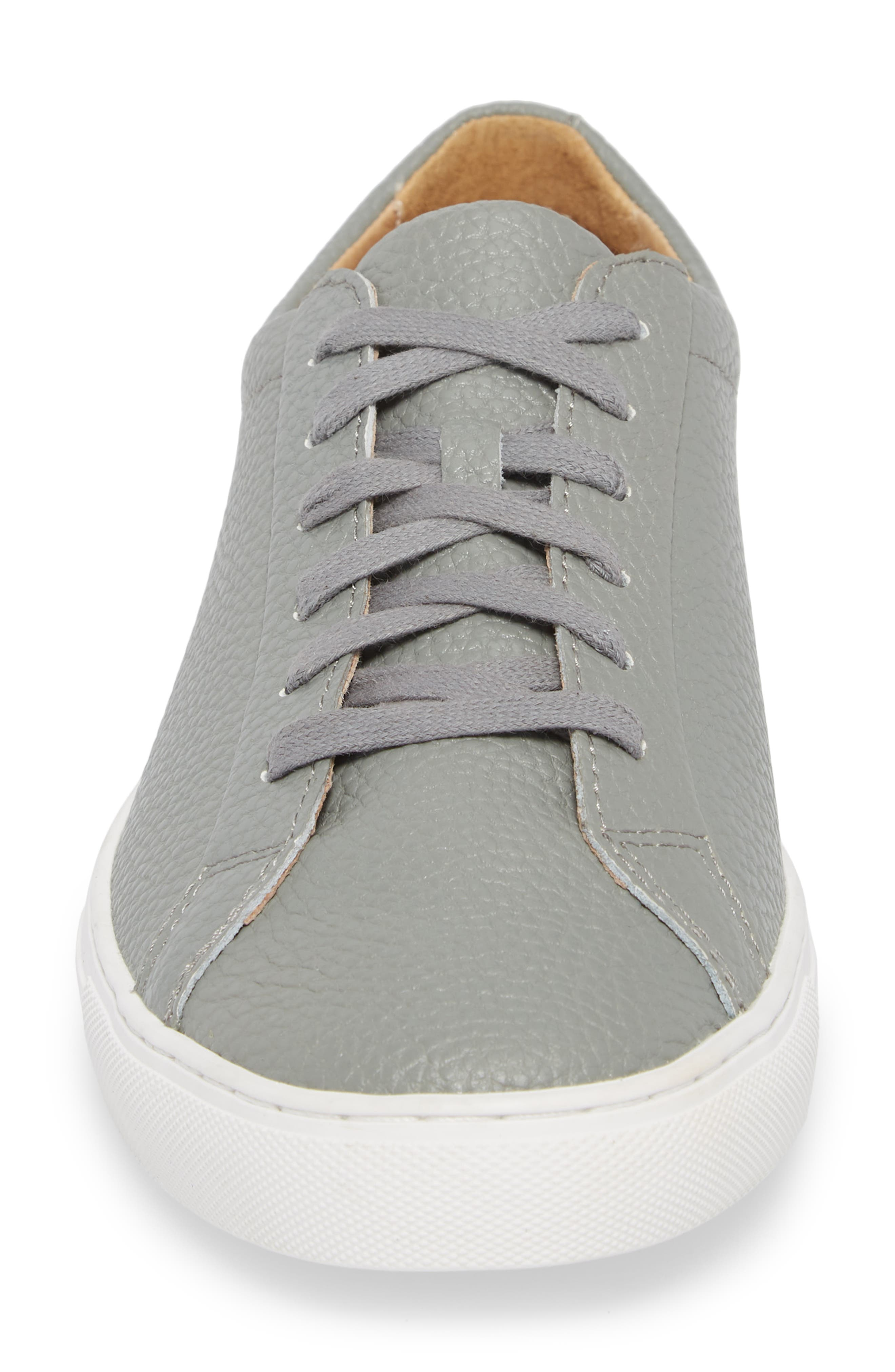 Kennedy Low Top Sneaker,                             Alternate thumbnail 4, color,                             RIVER ROCK LEATHER