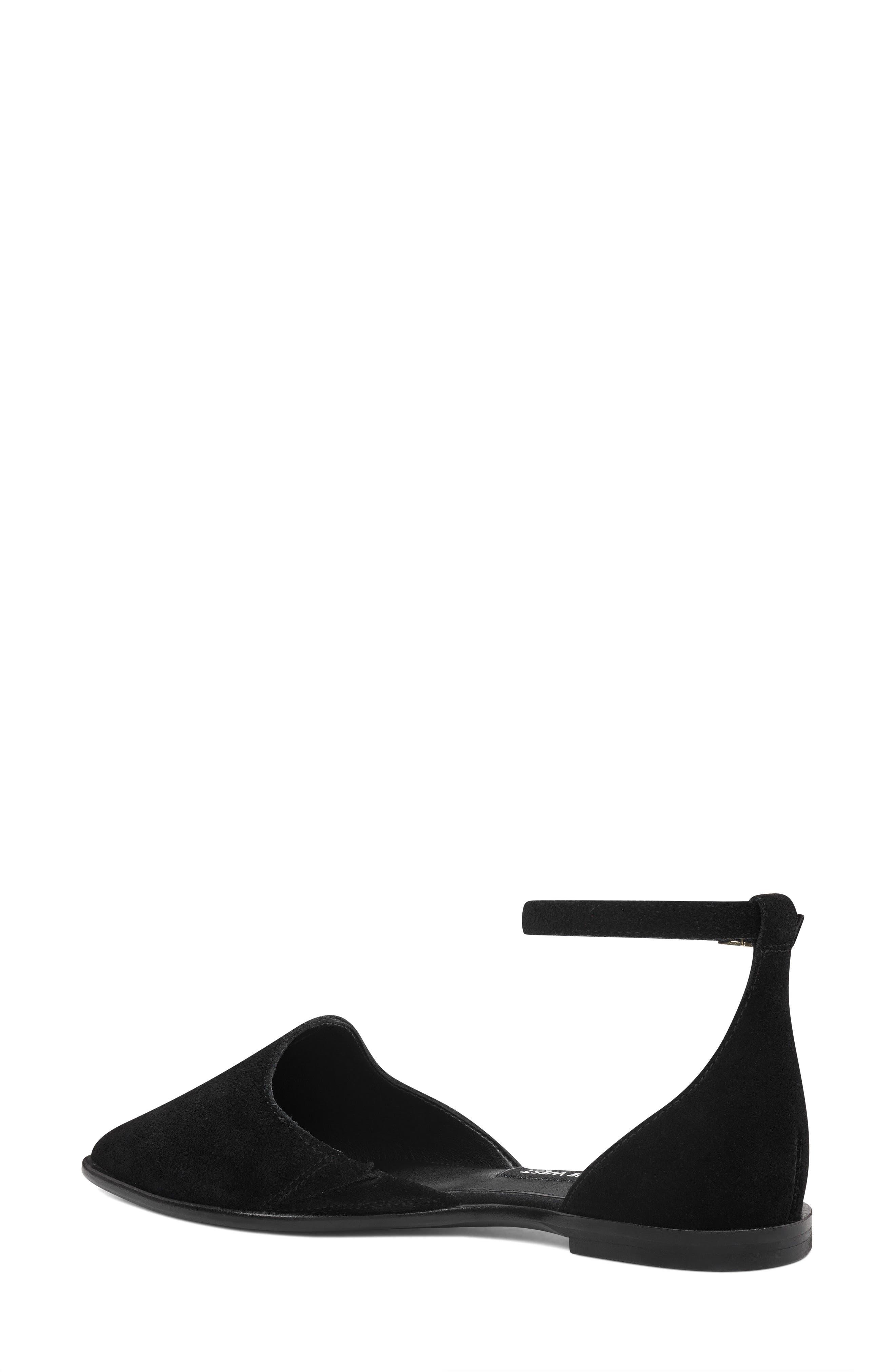 Oriona Ankle Strap Flat,                             Alternate thumbnail 2, color,                             001