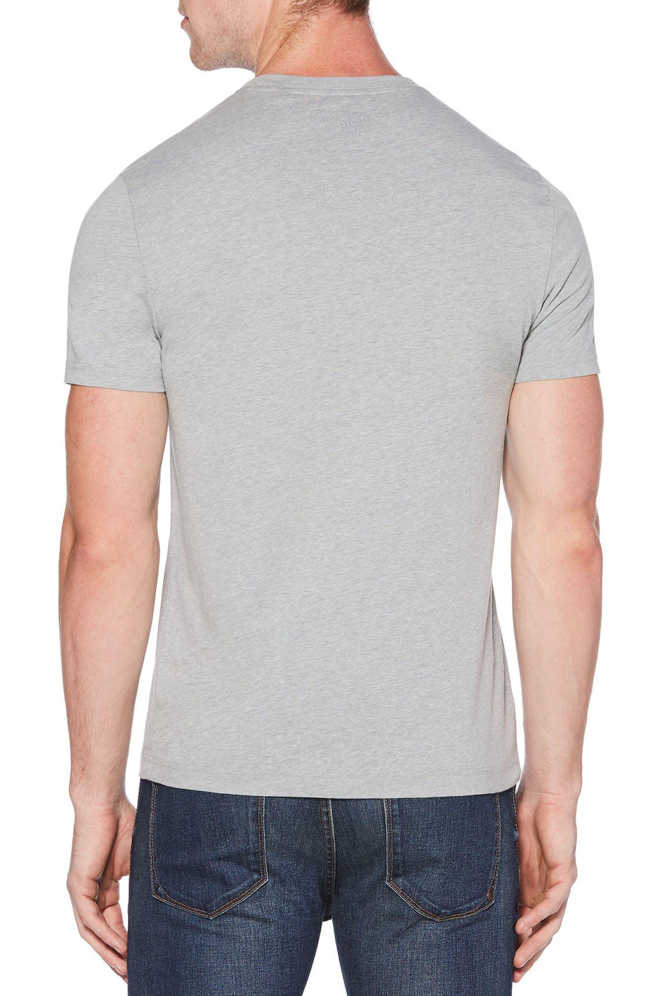Basic Circle Logo T-Shirt,                             Alternate thumbnail 2, color,                             RAIN HEATHER