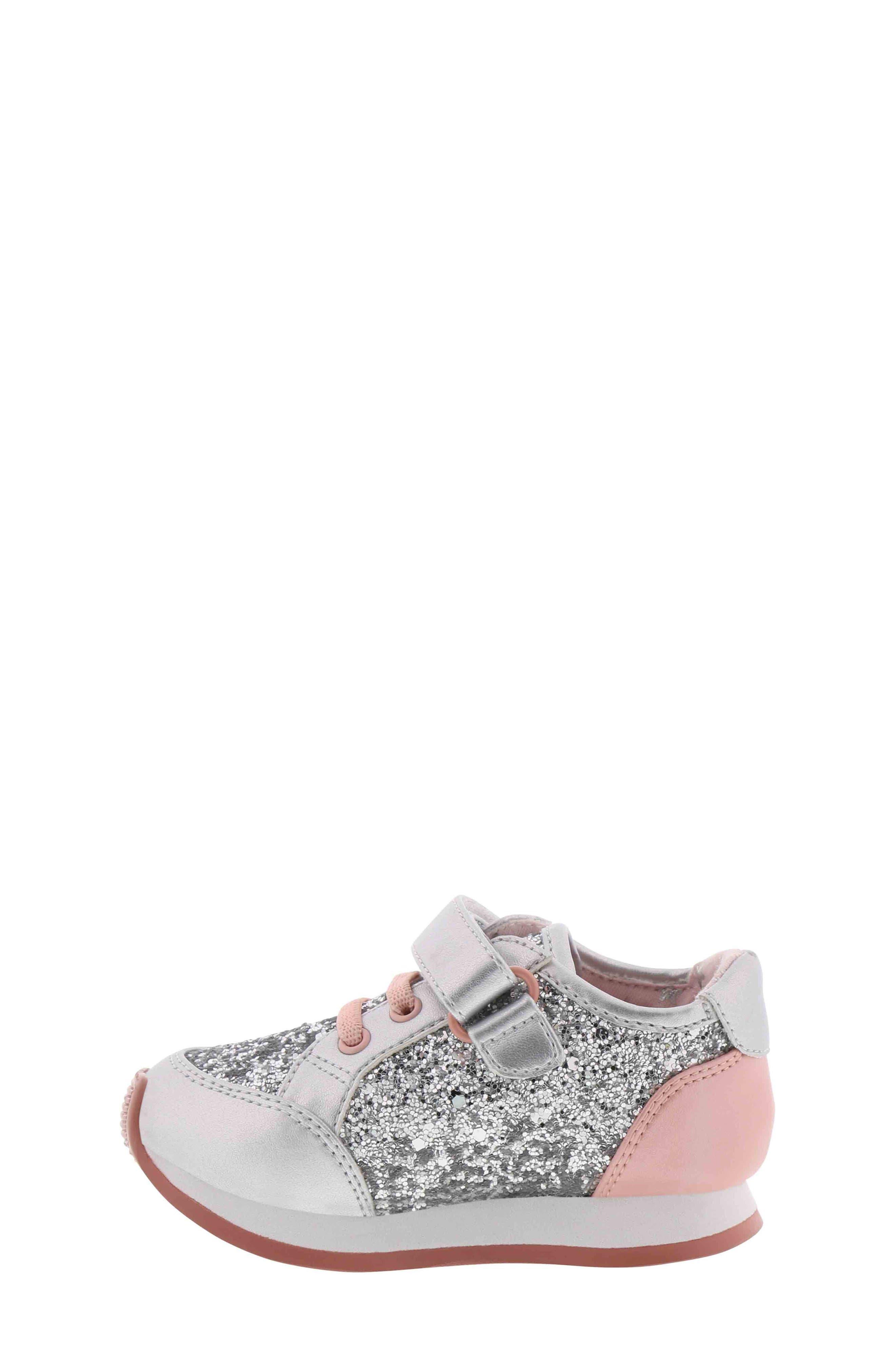 BØRN,                             Adyson Margyne Sparkle Sneaker,                             Alternate thumbnail 8, color,                             SILVER PINK