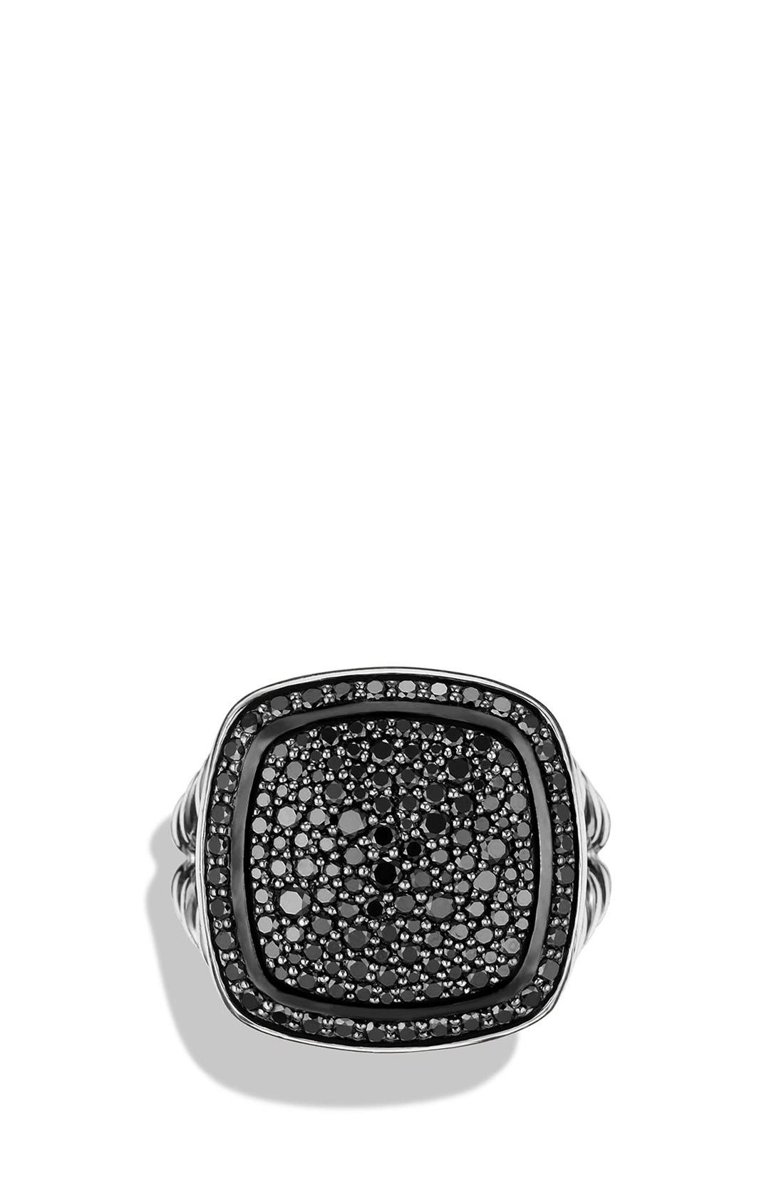 'Albion' Ring with Diamonds,                             Alternate thumbnail 3, color,                             BLACK DIAMOND